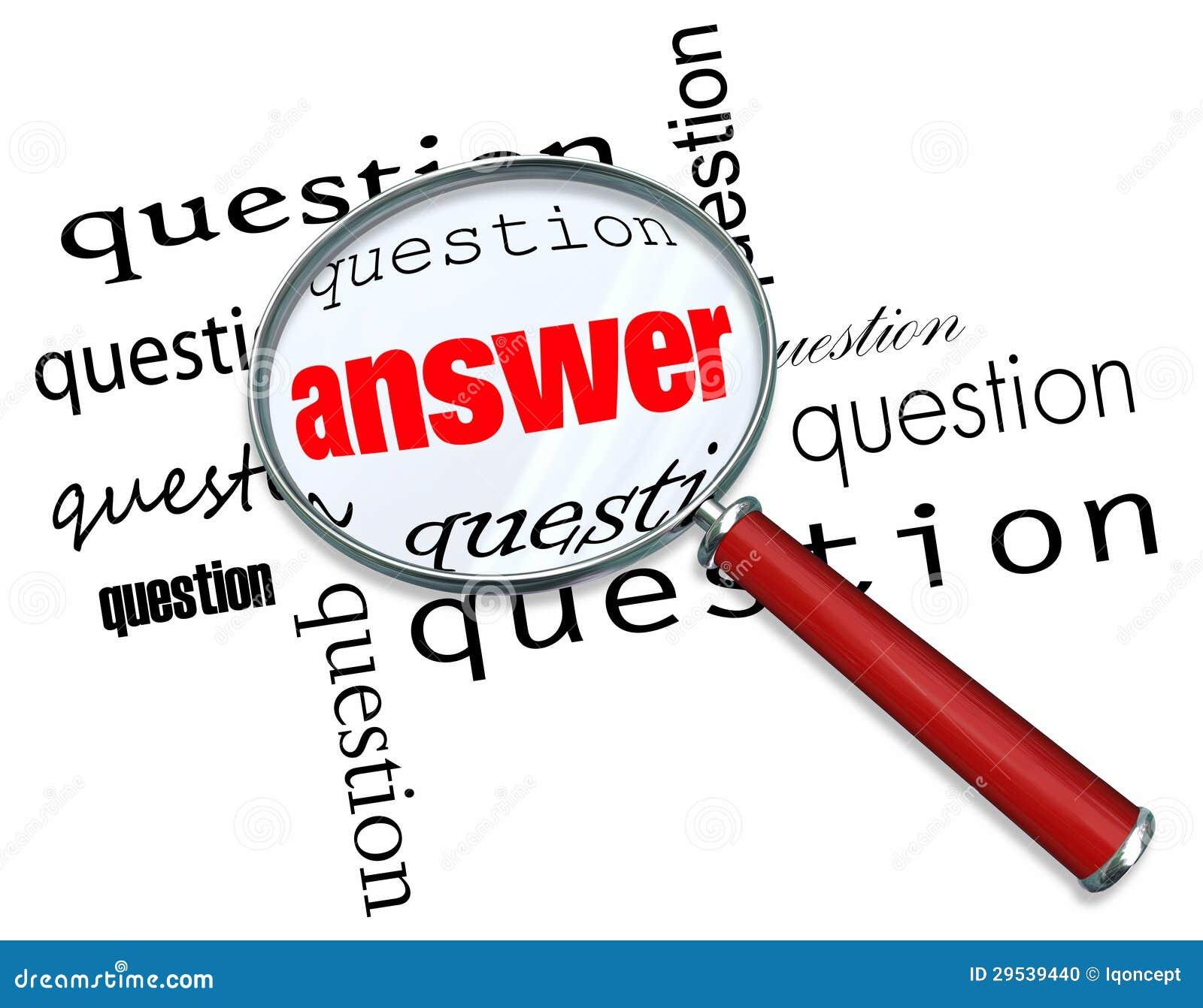 Perguntas e resposta - lupa em palavras