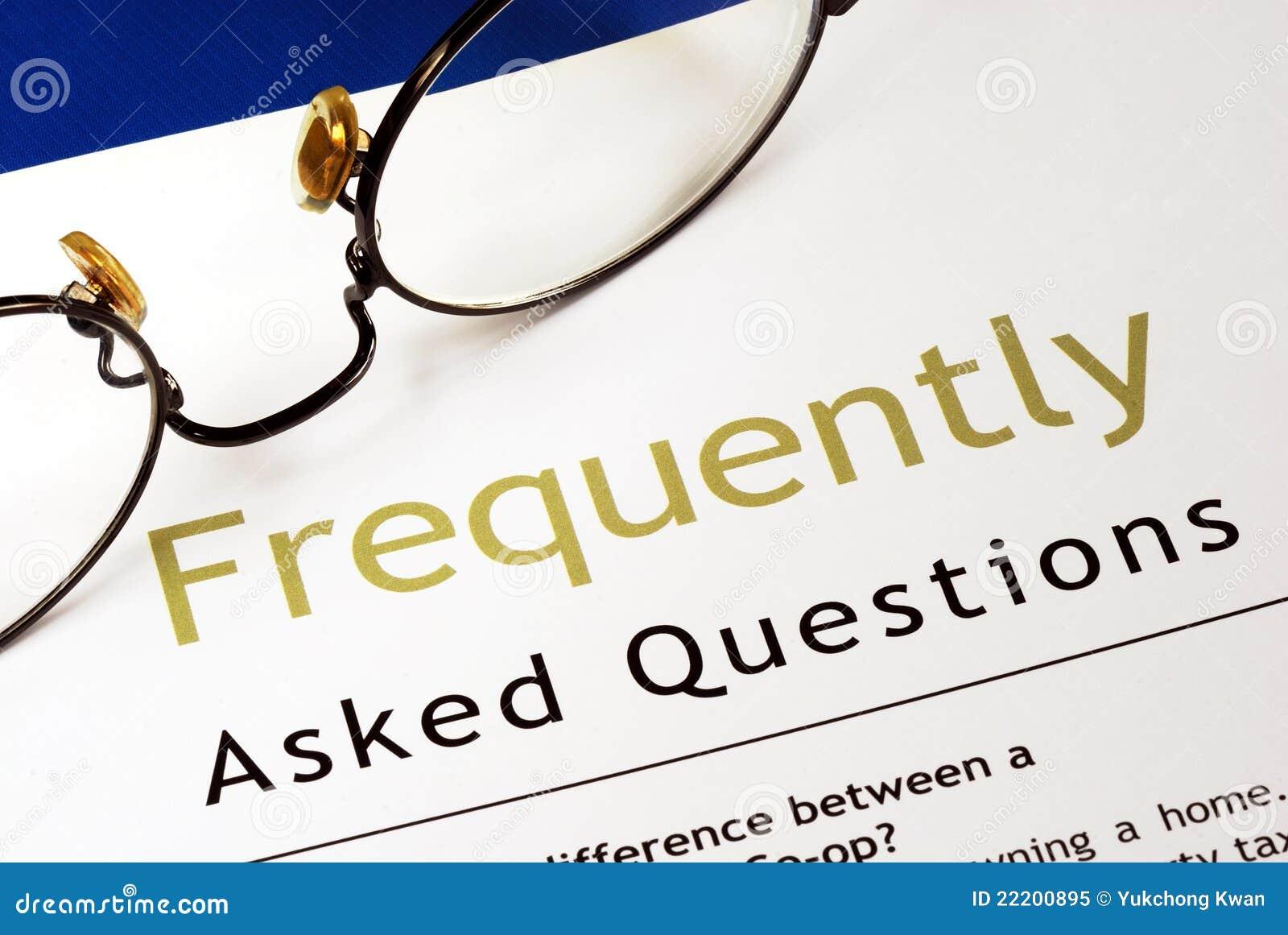 Perguntas freqüentemente feitas (FAQ)