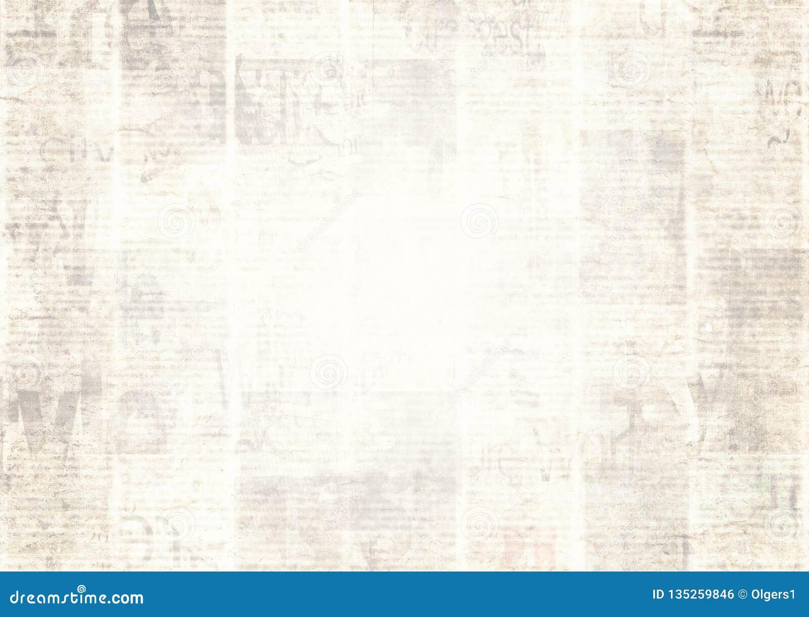 Periódico Con El Fondo De Papel Ilegible De La Textura Del Viejo