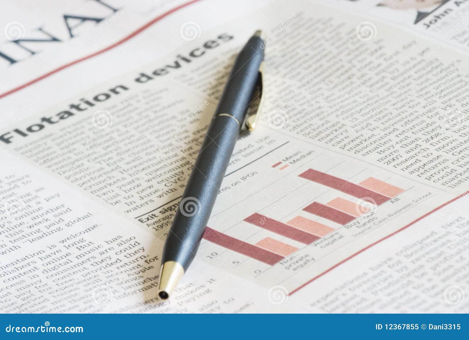Periódico del primer de un artículo
