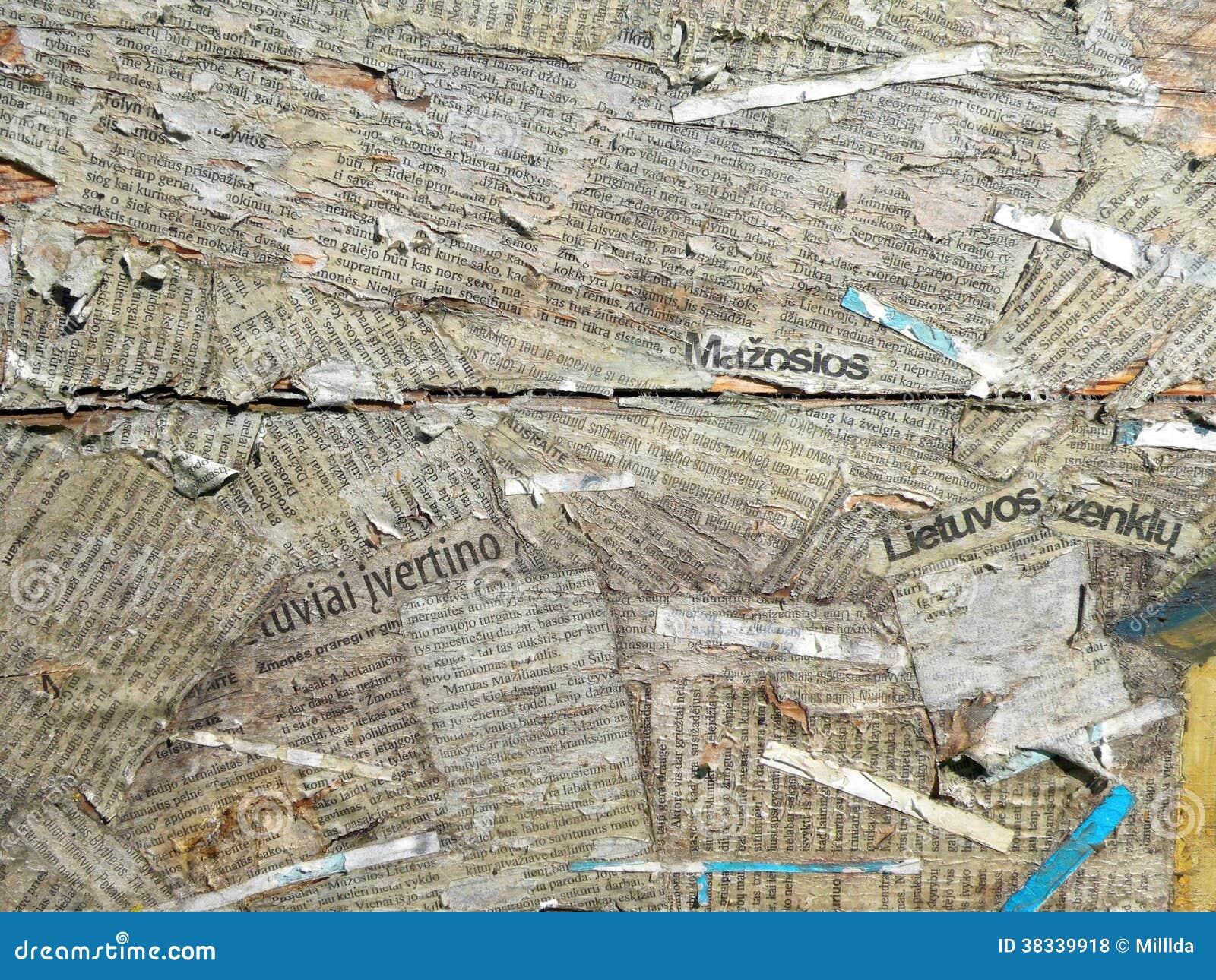 Periódico Viejo Del Corte Fotos De Archivo Libres De