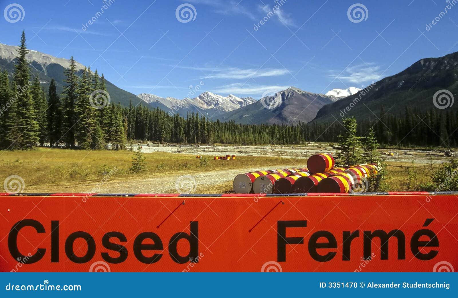 Perigo nas montanhas rochosas