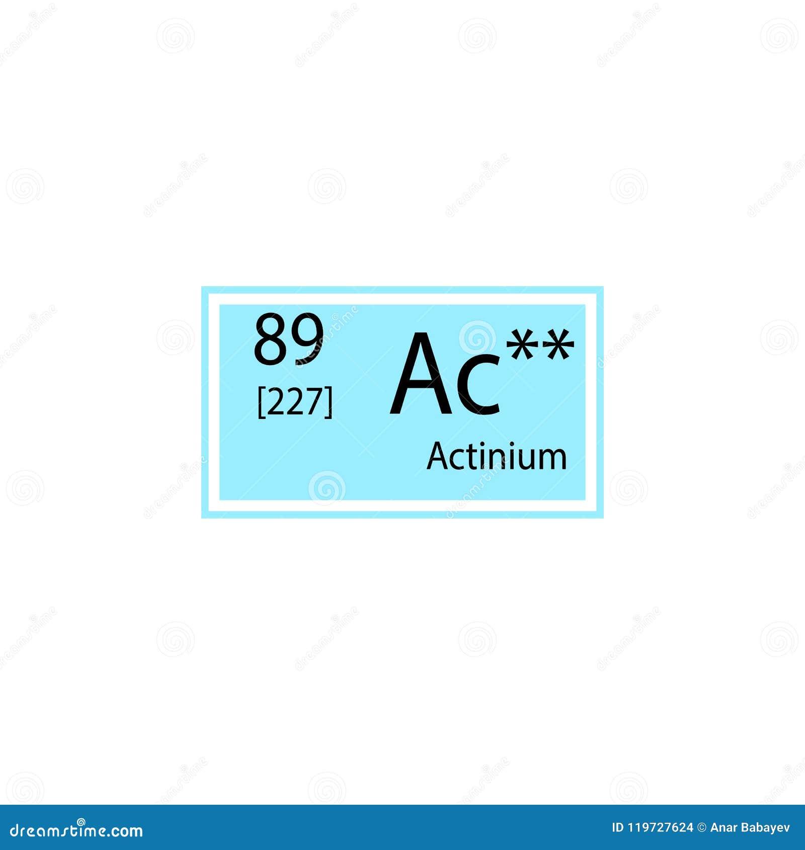 Periodic Table Element Actinium Icon Element Of Chemical Sign Icon
