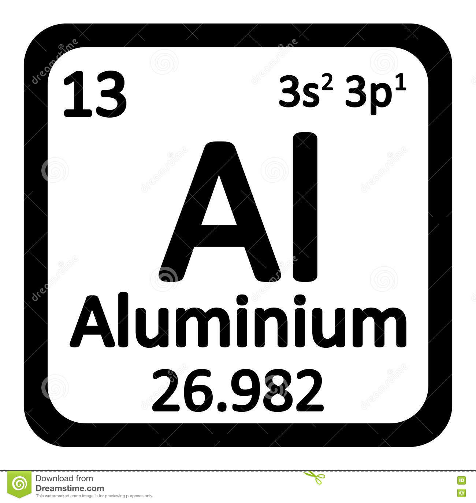 Periodic table element aluminium icon stock illustration image royalty free illustration download periodic table element aluminium gamestrikefo Gallery