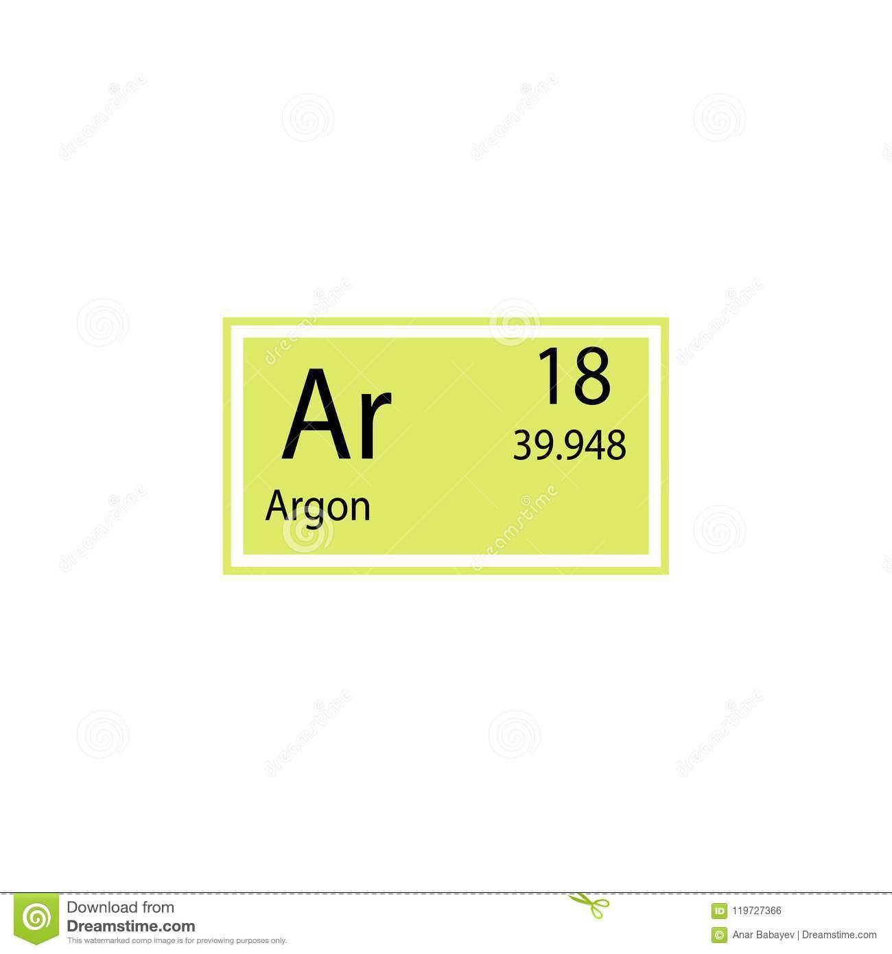 Periodic table element argon icon element of chemical sign icon download comp urtaz Images