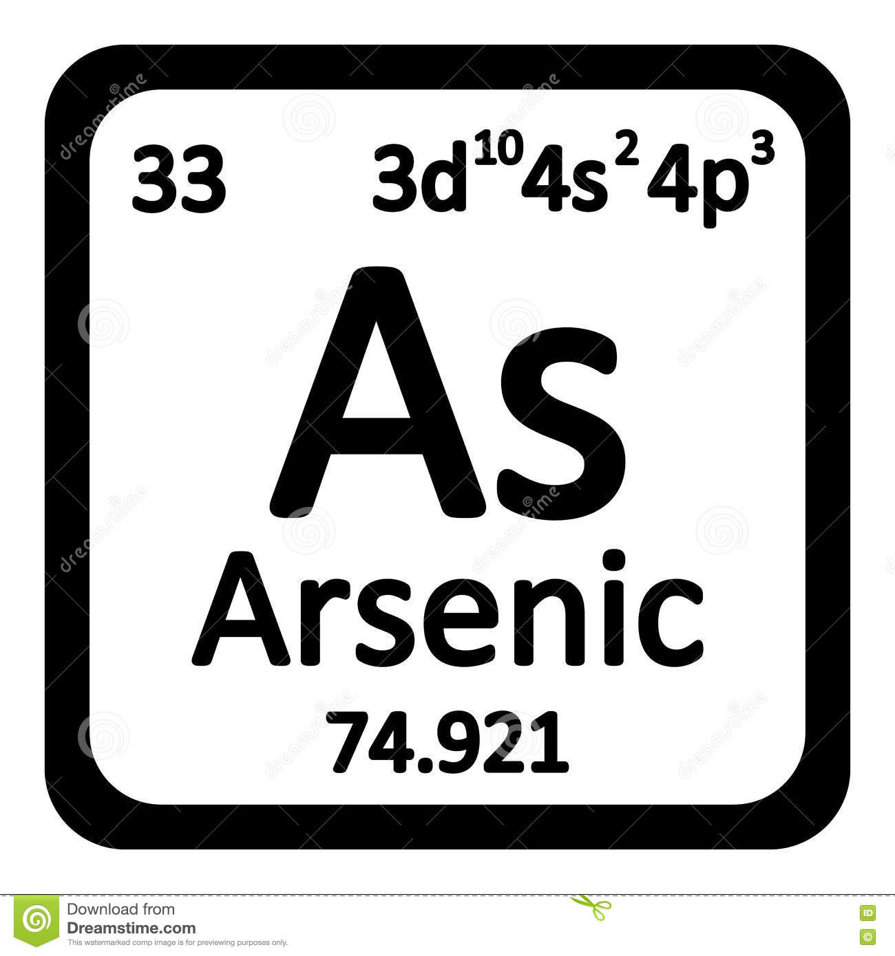 Periodic table element arsenic icon stock illustration periodic table element arsenic icon biocorpaavc Image collections