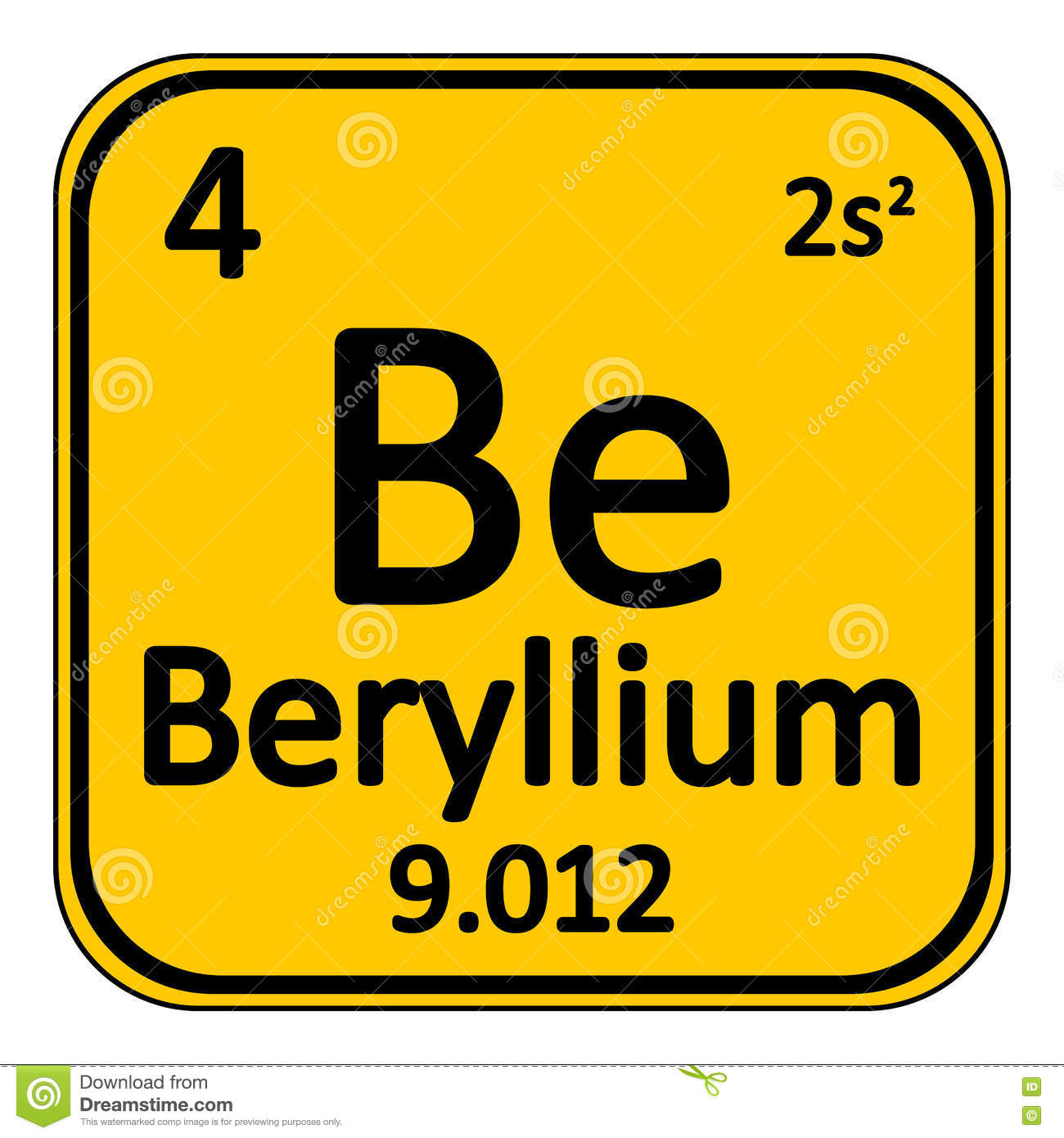 Periodic table element beryllium icon stock illustration periodic table element beryllium icon biocorpaavc Images