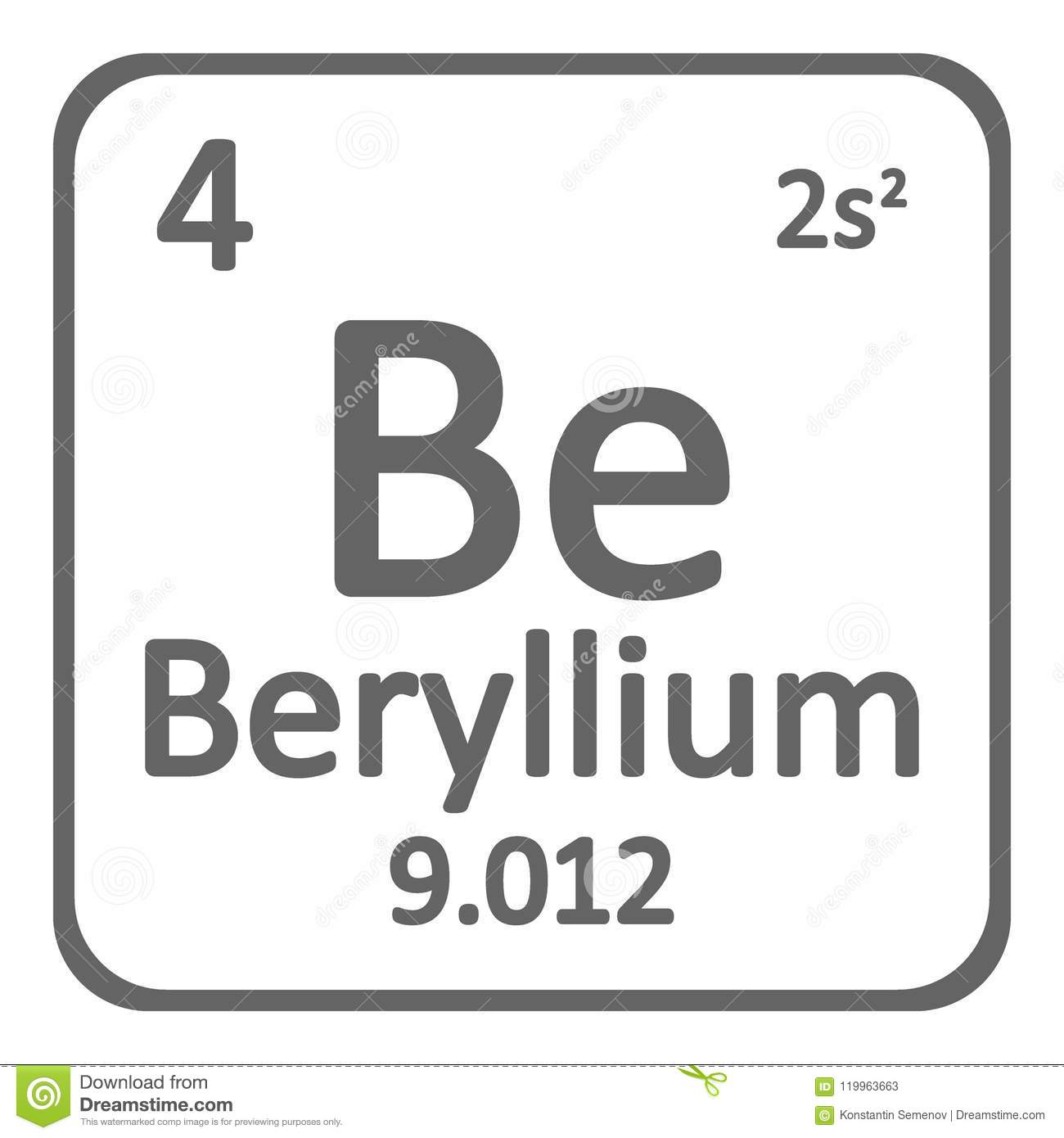Periodic table element beryllium icon stock illustration periodic table element beryllium icon on white background vector illustration urtaz