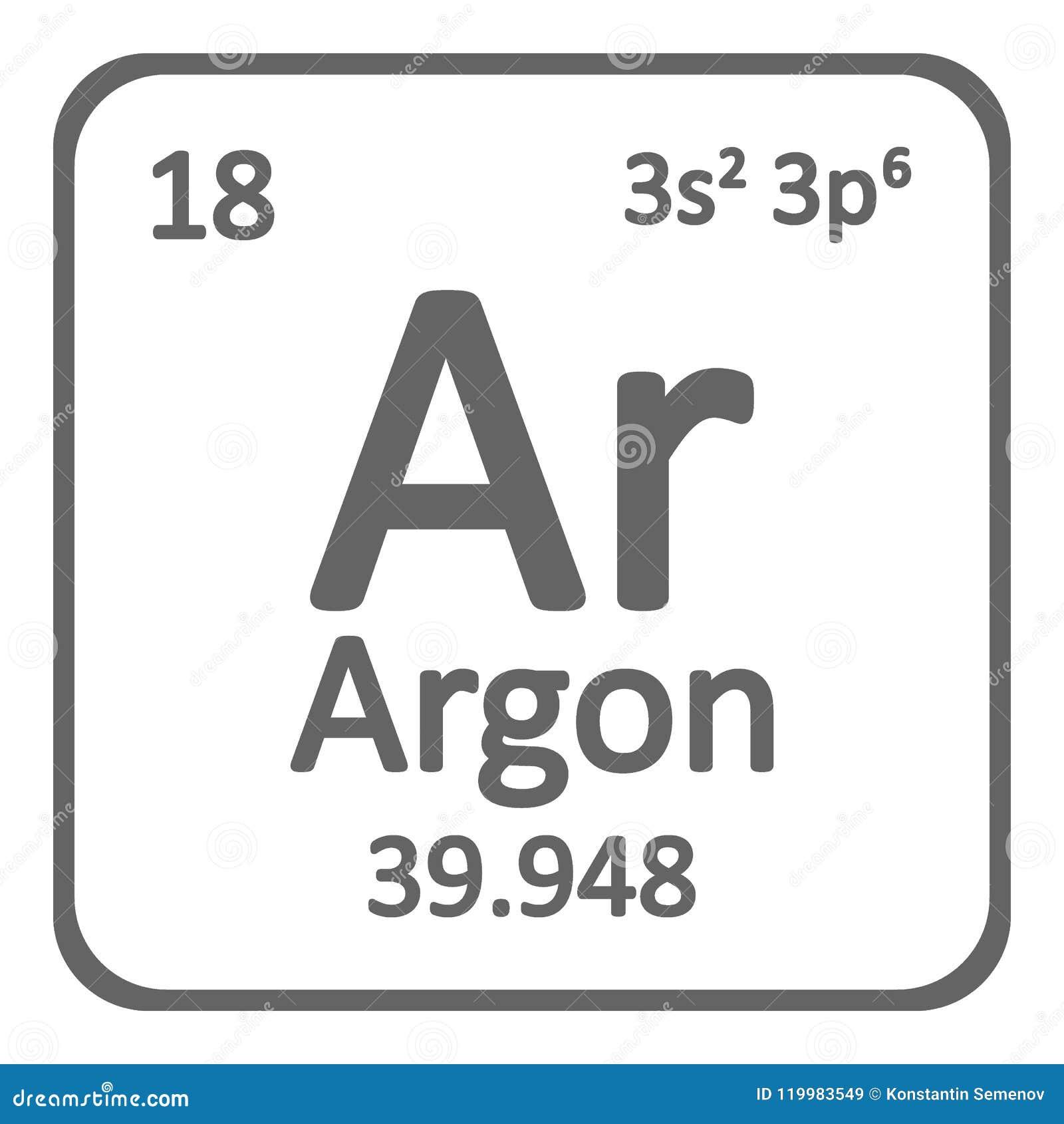 Periodic Table Element Boron Icon Stock Illustration Illustration