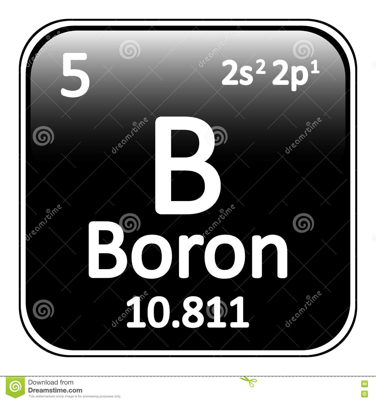 Periodic table element boron icon stock illustration periodic table element boron icon buycottarizona