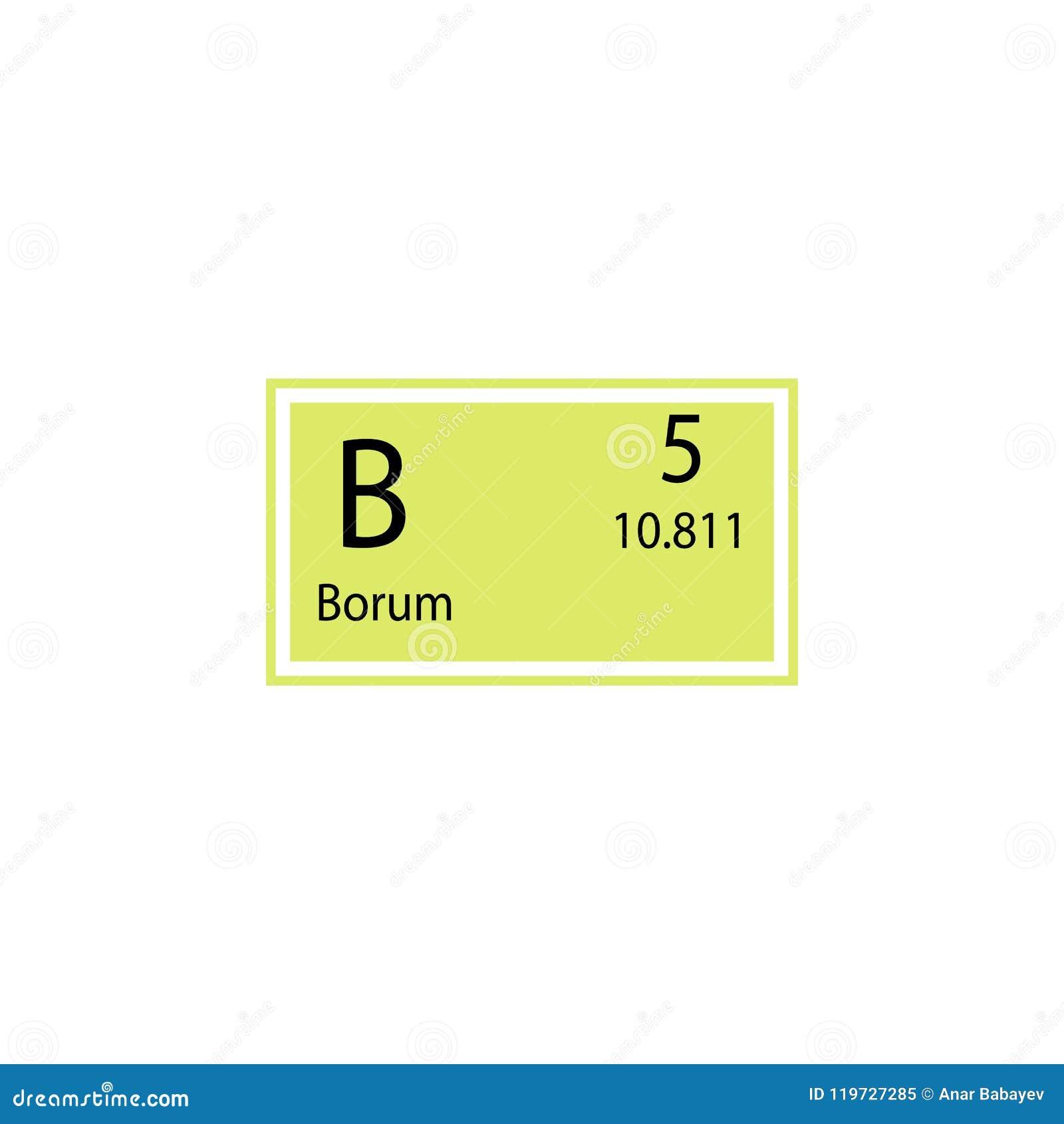 Periodic Table Element Borum Icon Element Of Chemical Sign Icon