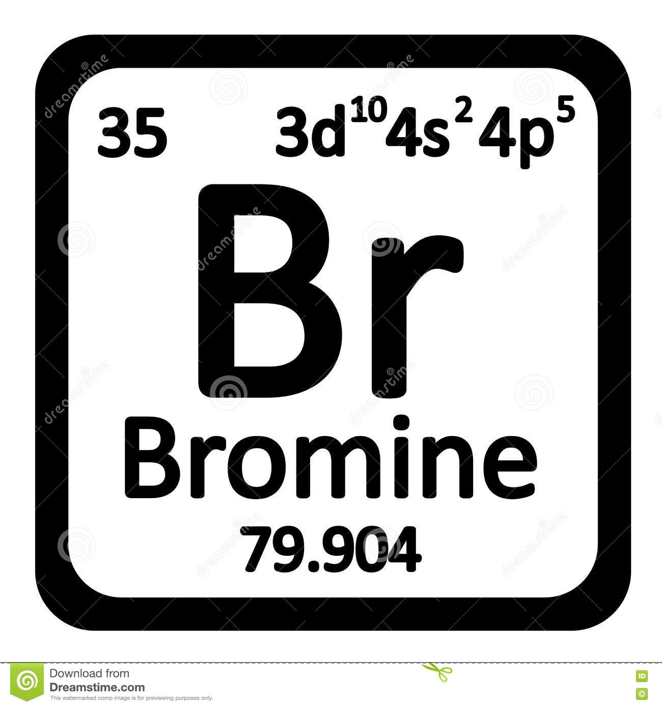 Periodic table element bromine icon stock illustration image royalty free illustration download periodic table element bromine gamestrikefo Gallery