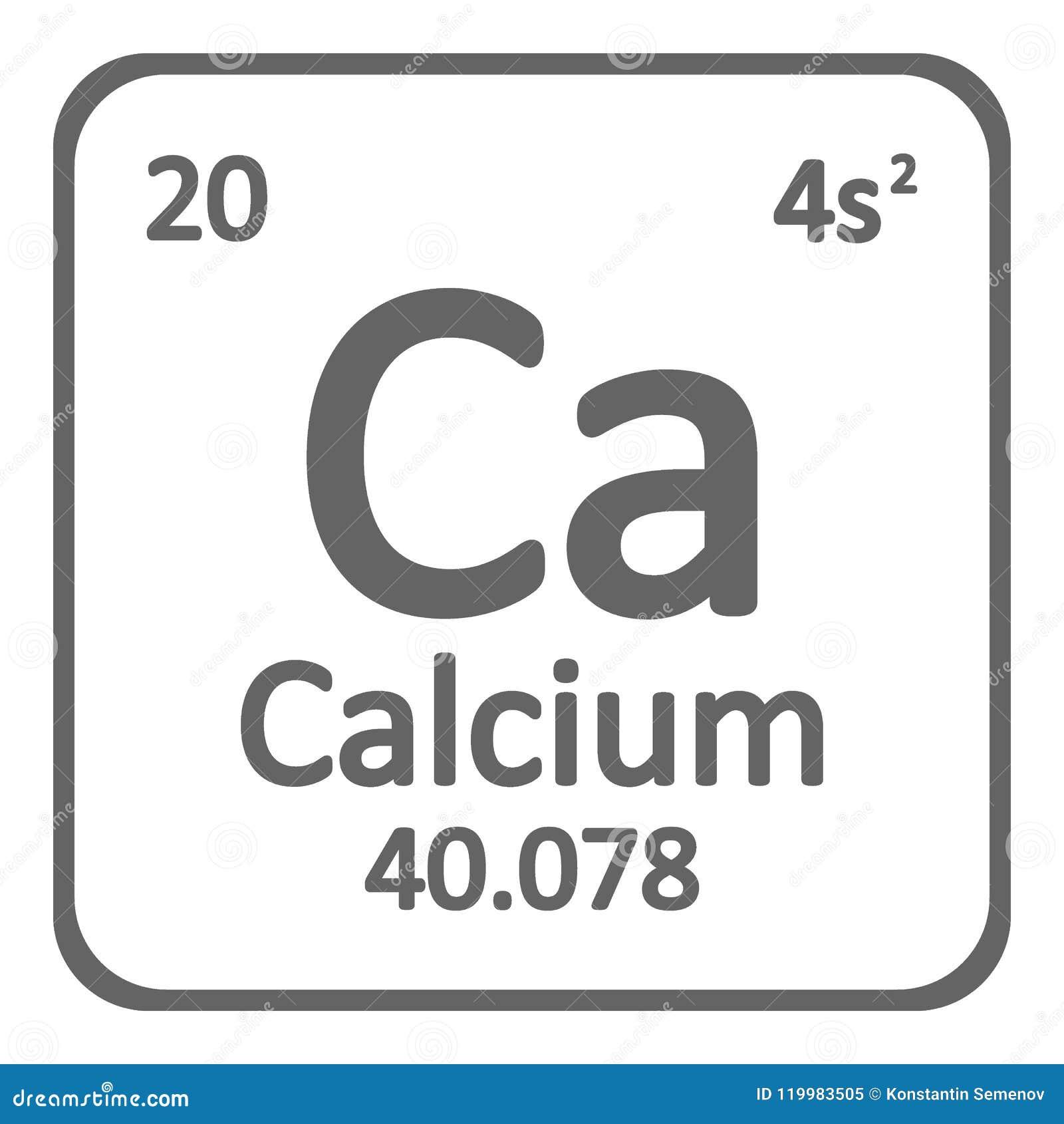 Periodic Table Element Calcium Icon Stock Illustration