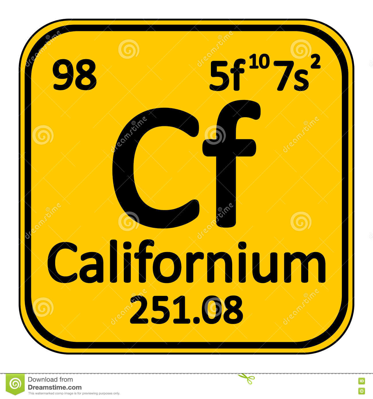 Periodic table element californium icon stock illustration royalty free illustration download periodic table element californium gamestrikefo Images
