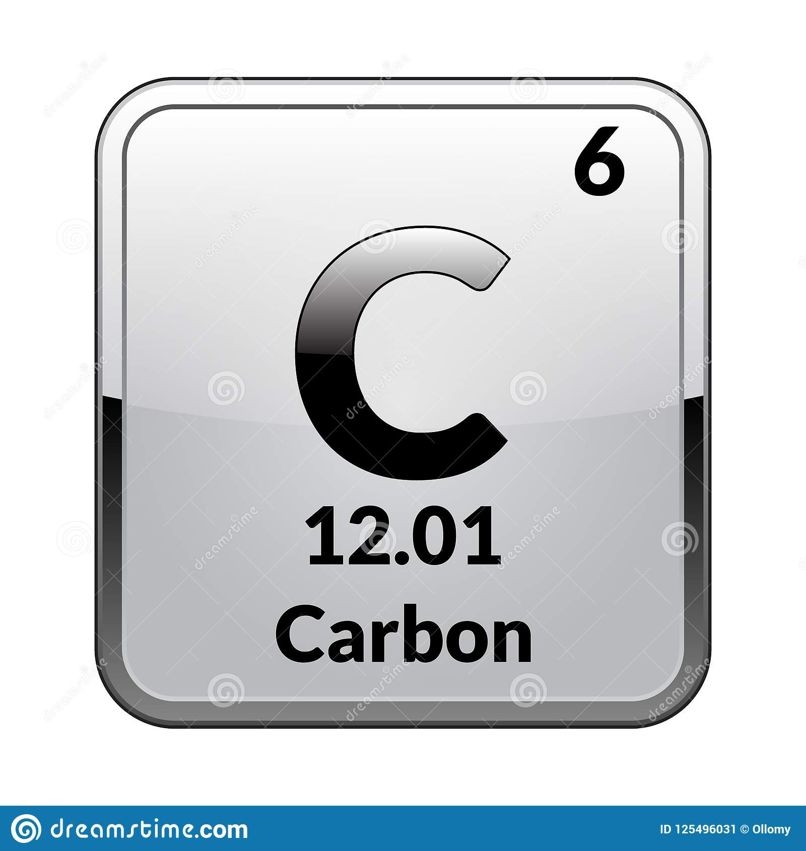 The Periodic Table Element Carbonctor Stock Vector