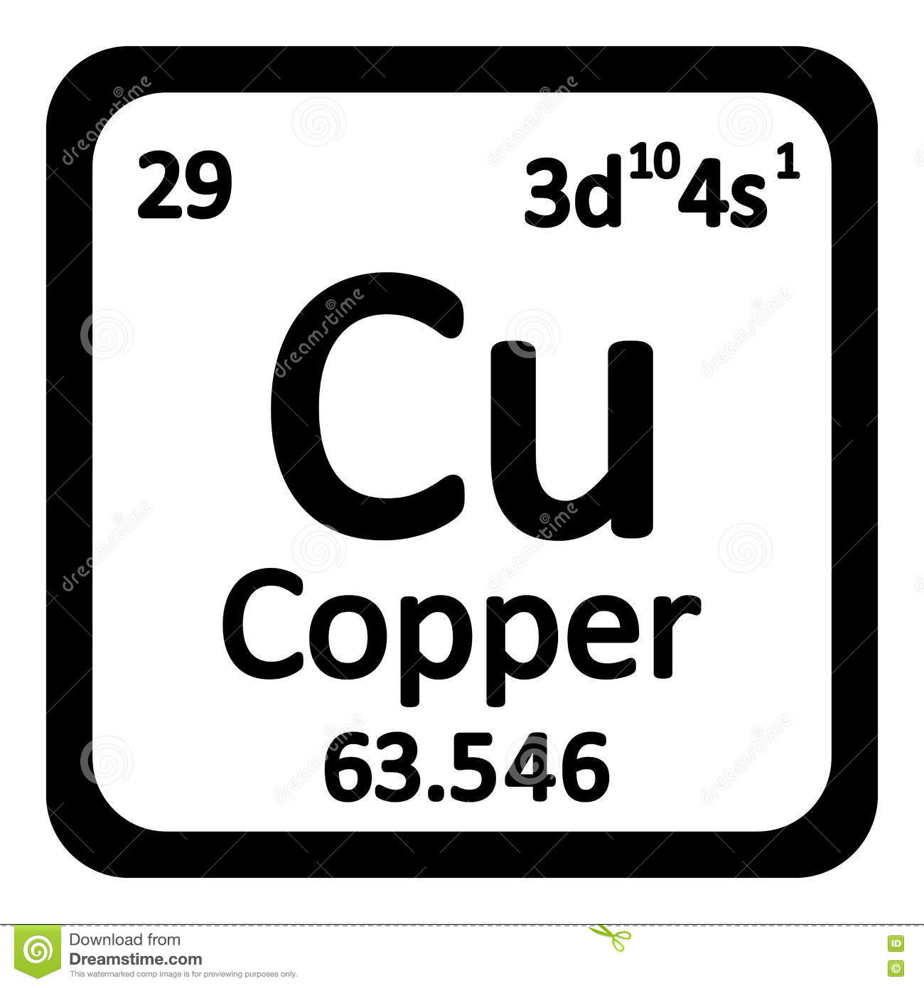 Periodic table element copper icon stock illustration periodic table element copper icon biocorpaavc Image collections