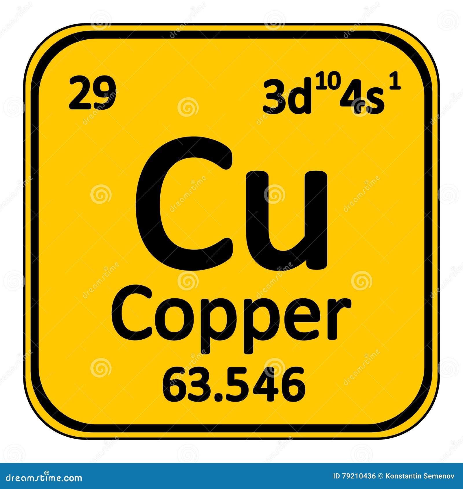 Periodic table element copper icon stock illustration periodic table element copper icon urtaz Choice Image