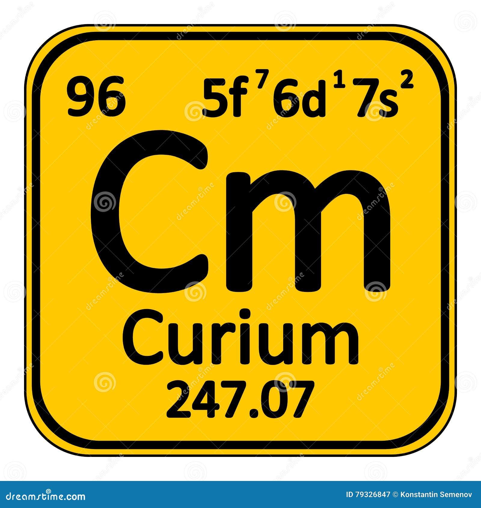 Periodic Table Element Curium Icon Stock Illustration