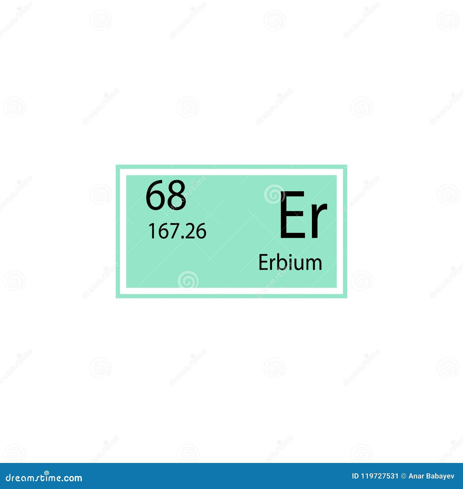 Periodic Table Element Erbium Icon Element Of Chemical Sign Icon
