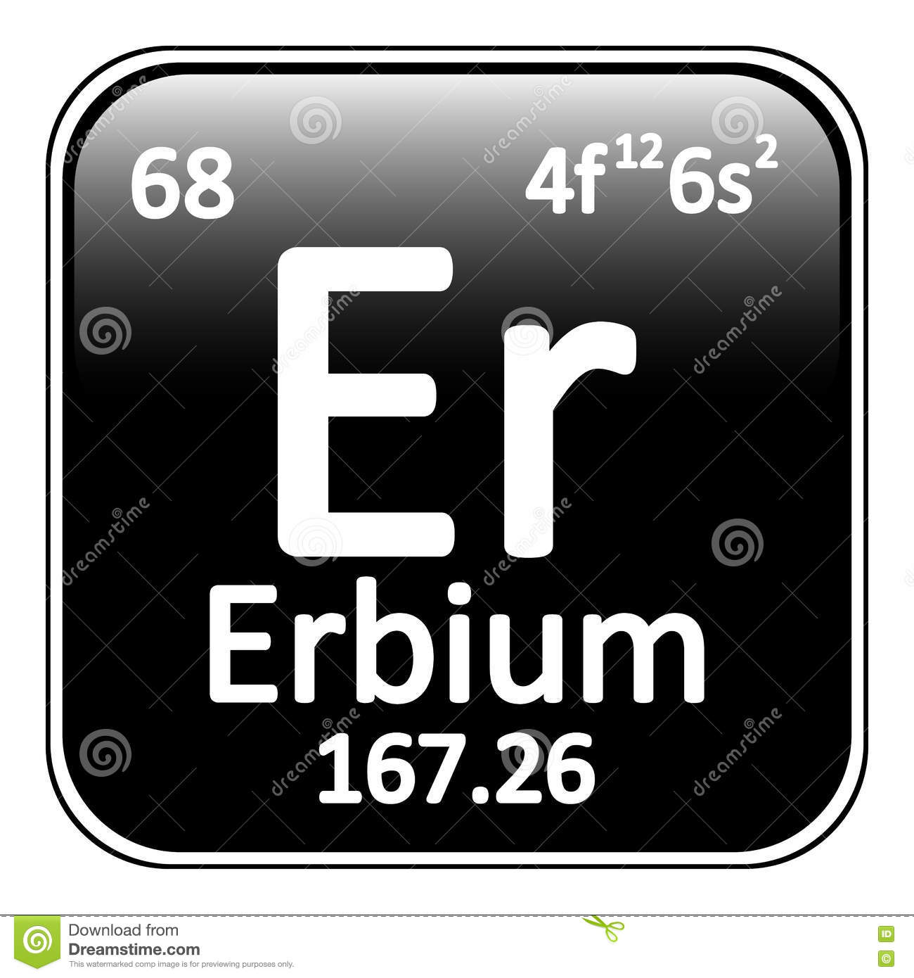 Periodic table element erbium icon stock illustration image royalty free illustration download periodic table element gamestrikefo Choice Image