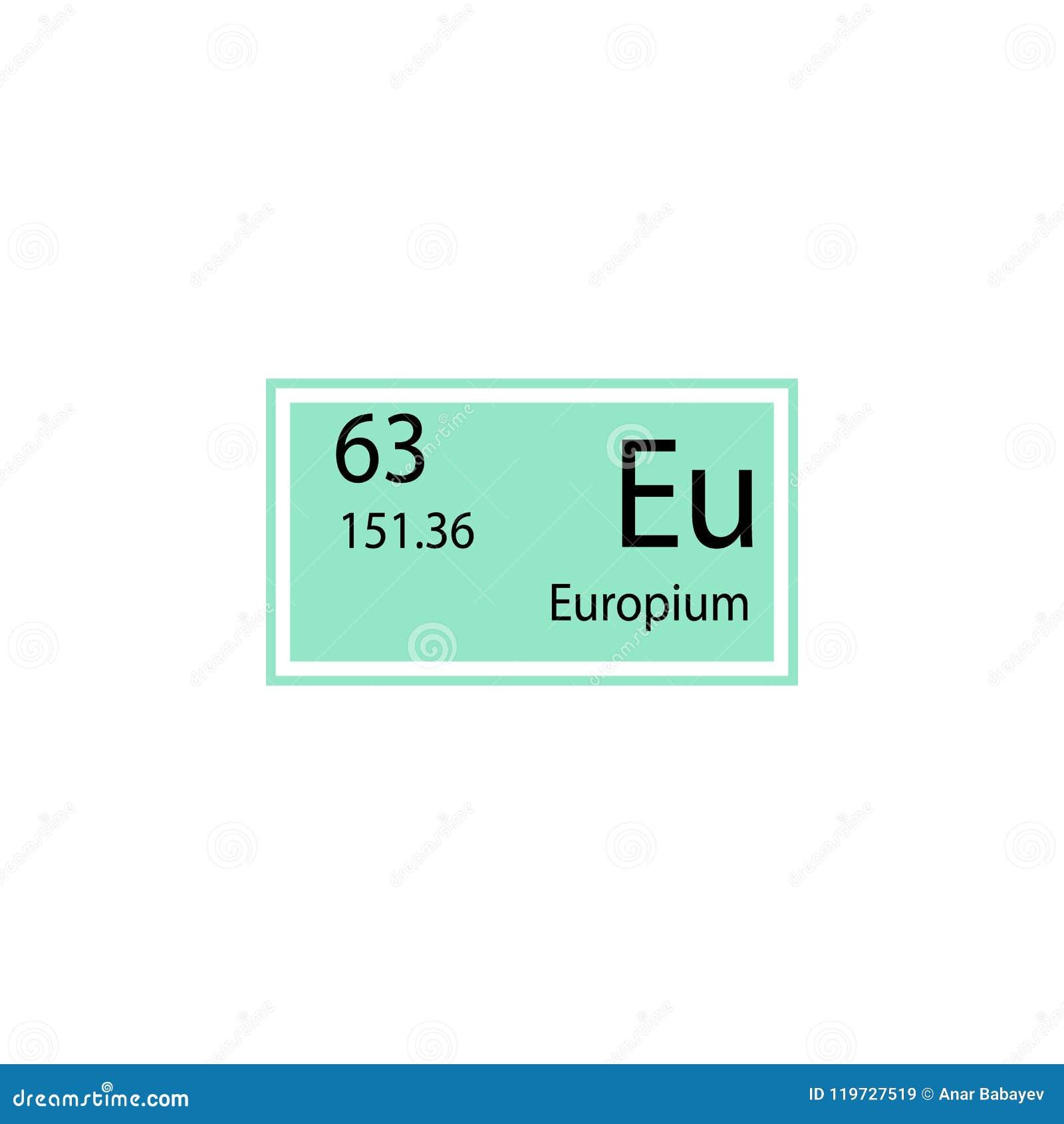Periodic Table Element Europium Icon Element Of Chemical Sign Icon