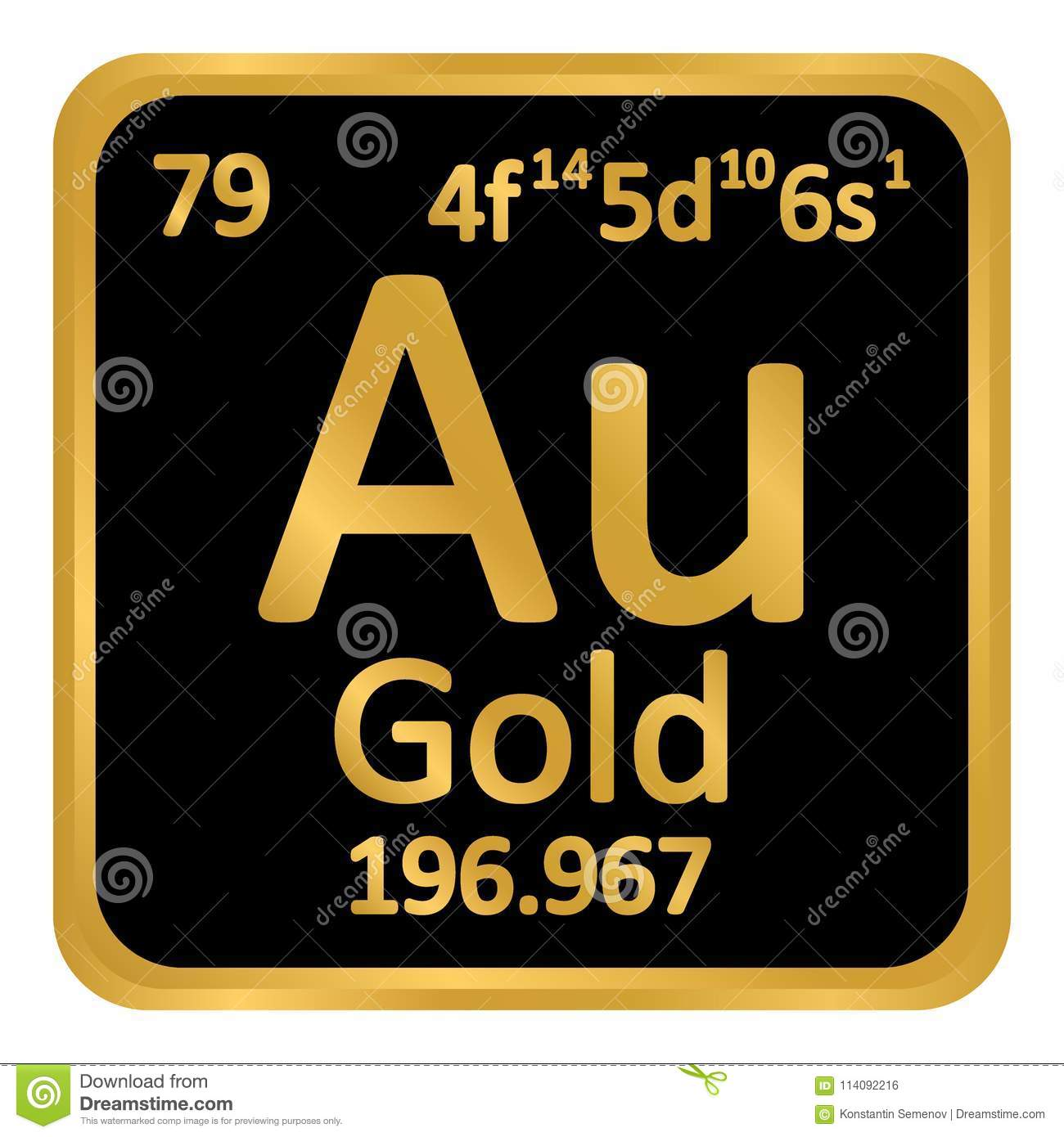 Periodic table element gold icon stock illustration illustration download periodic table element gold icon stock illustration illustration of periodic physics urtaz Gallery
