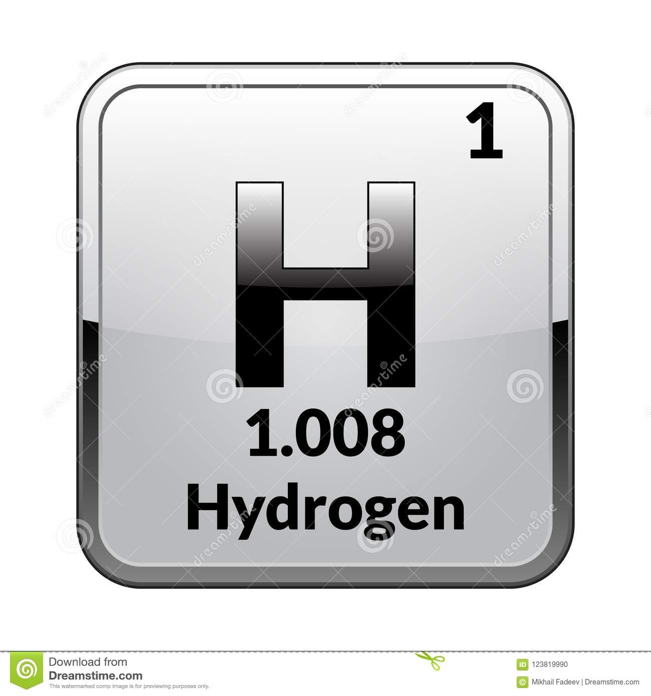 The Periodic Table Element Hydrogenctor Stock Vector