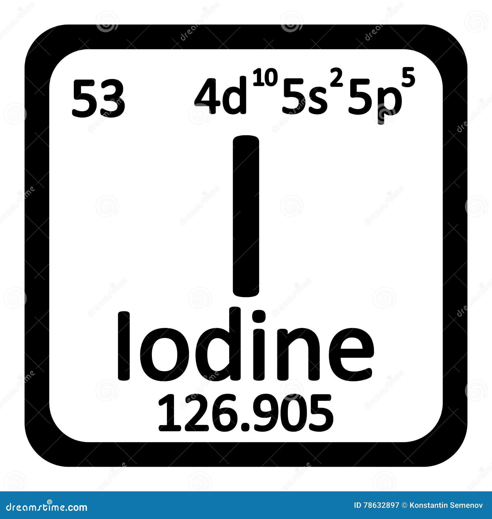Periodic table element iodine icon stock illustration image periodic table element iodine icon gamestrikefo Gallery