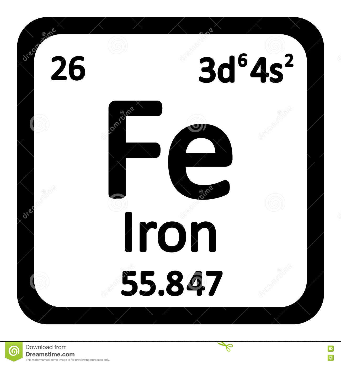 Periodic table element iron icon stock illustration image 78437391 periodic table element iron icon gamestrikefo Image collections