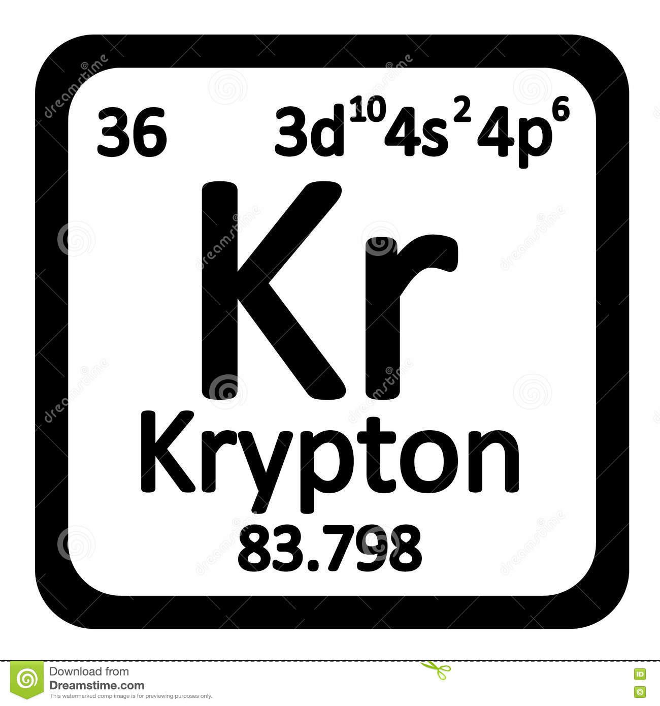 Krypton chemical element stock vector image of design 83098754 periodic table element krypton icon royalty free stock photography buycottarizona