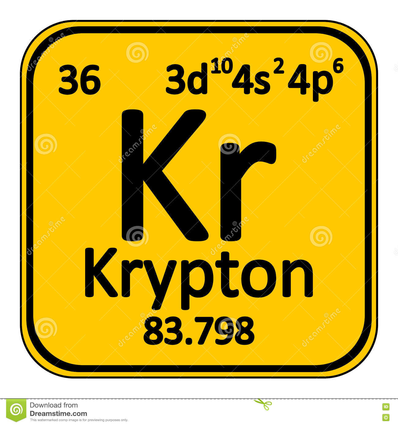 Periodic table element krypton icon stock illustration periodic table element krypton icon buycottarizona