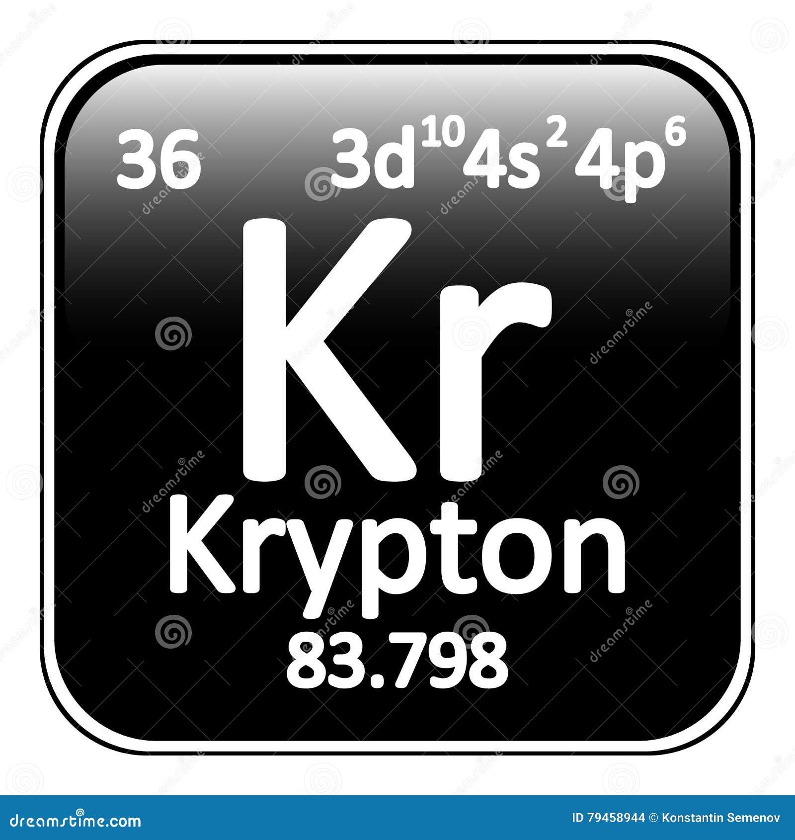 Krypton Chemical Element Vector Illustration