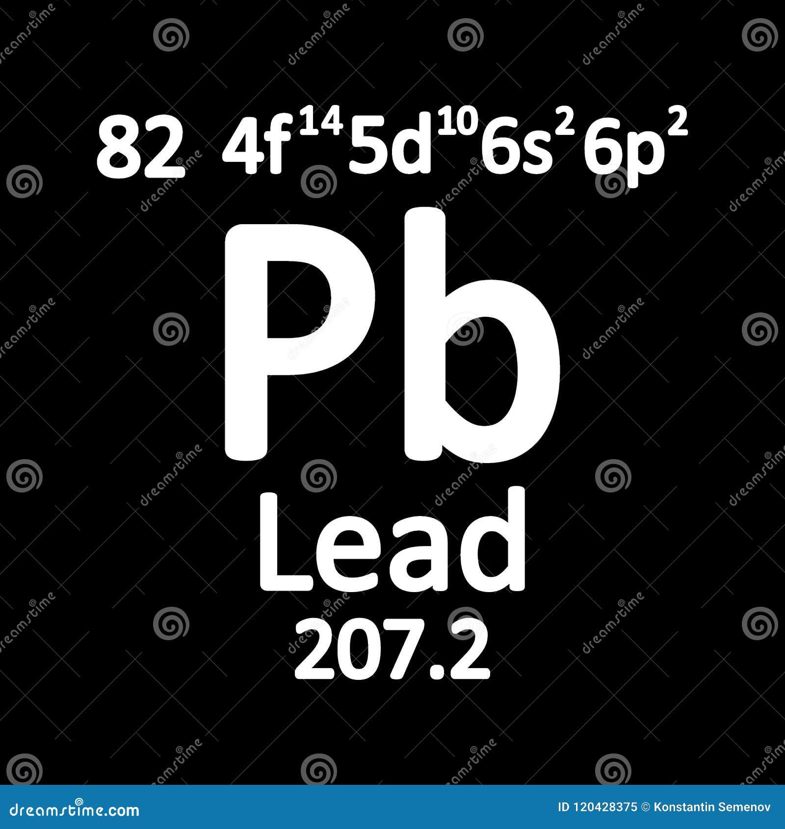 Periodic Table Element Lead Icon Stock Illustration Illustration