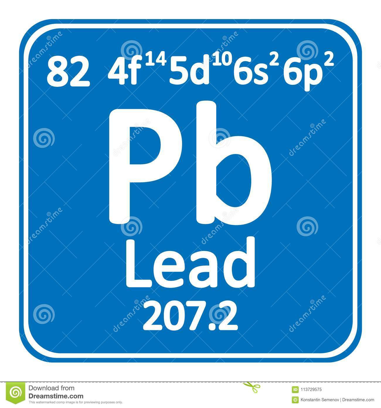 Periodic Table Element Lead Icon Stock Illustration Illustration