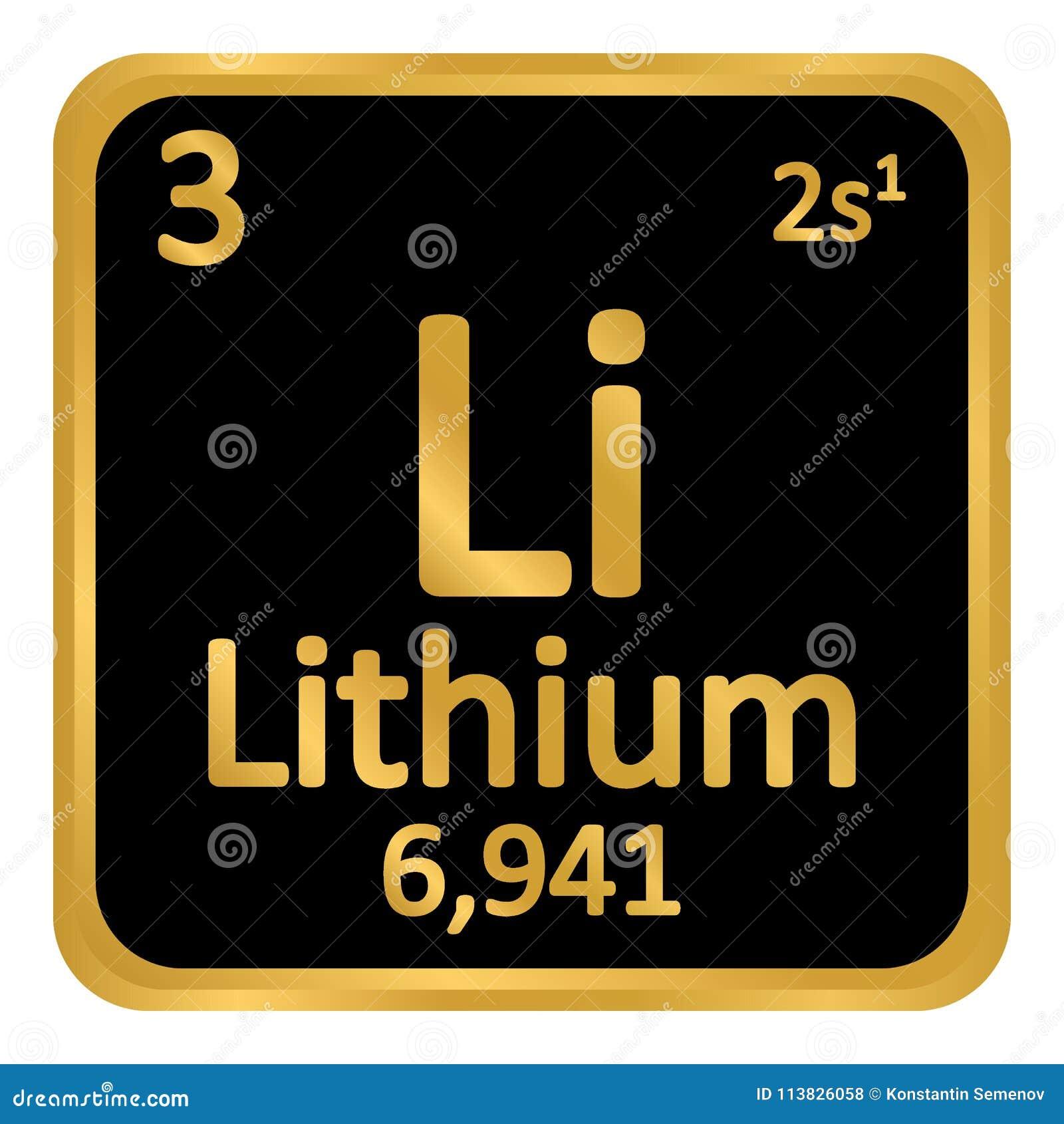 periodic table element lithium icon - Periodic Table Symbol For Lithium