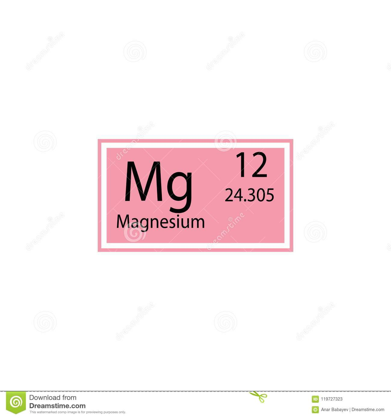 Periodic Table Element Magnesium Icon Element Of Chemical Sign Icon