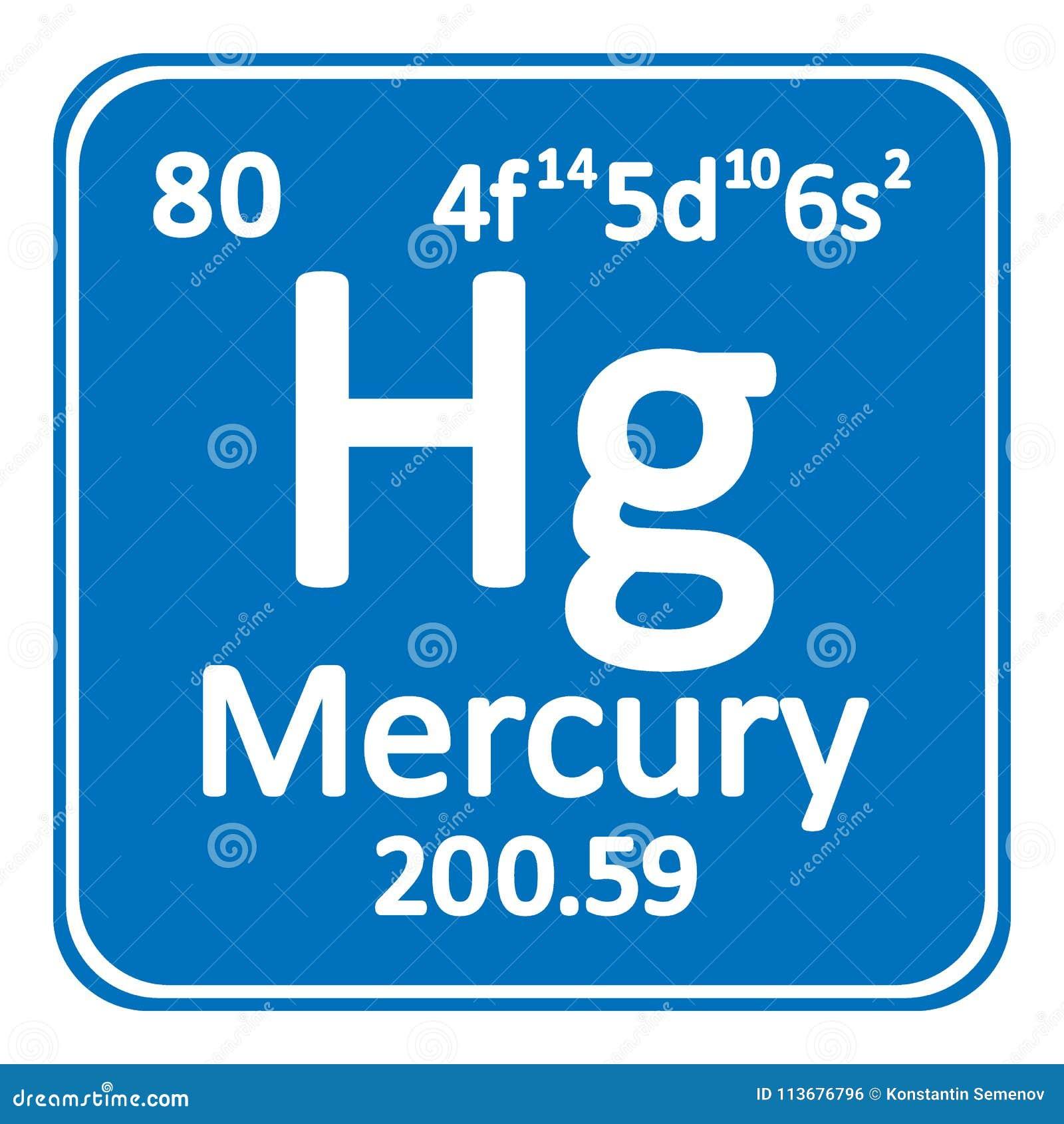 Periodic Table Element Mercury Icon Stock Illustration