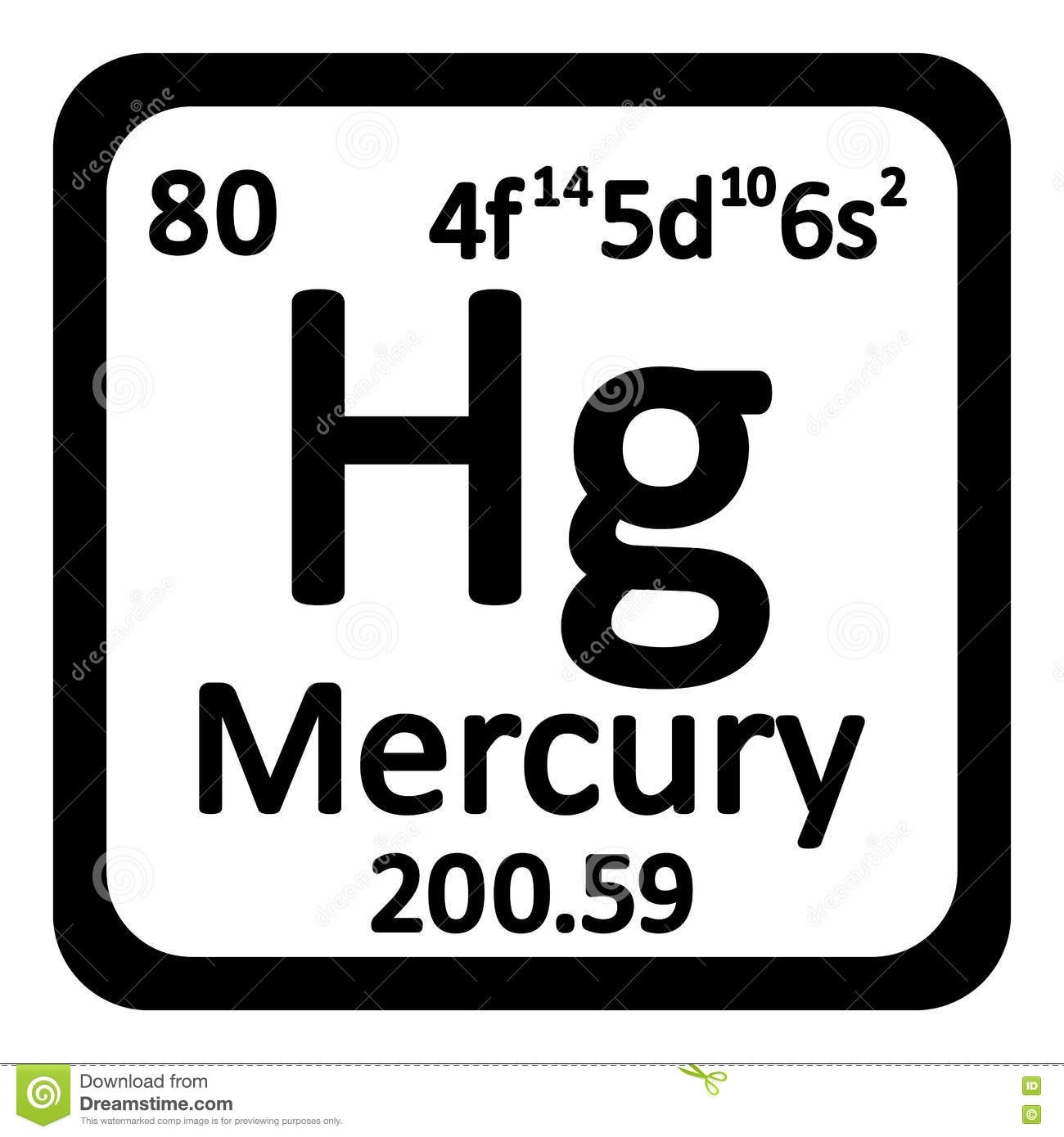Chemical element mercury from the periodic table stock periodic table element mercury icon stock photo buycottarizona Gallery