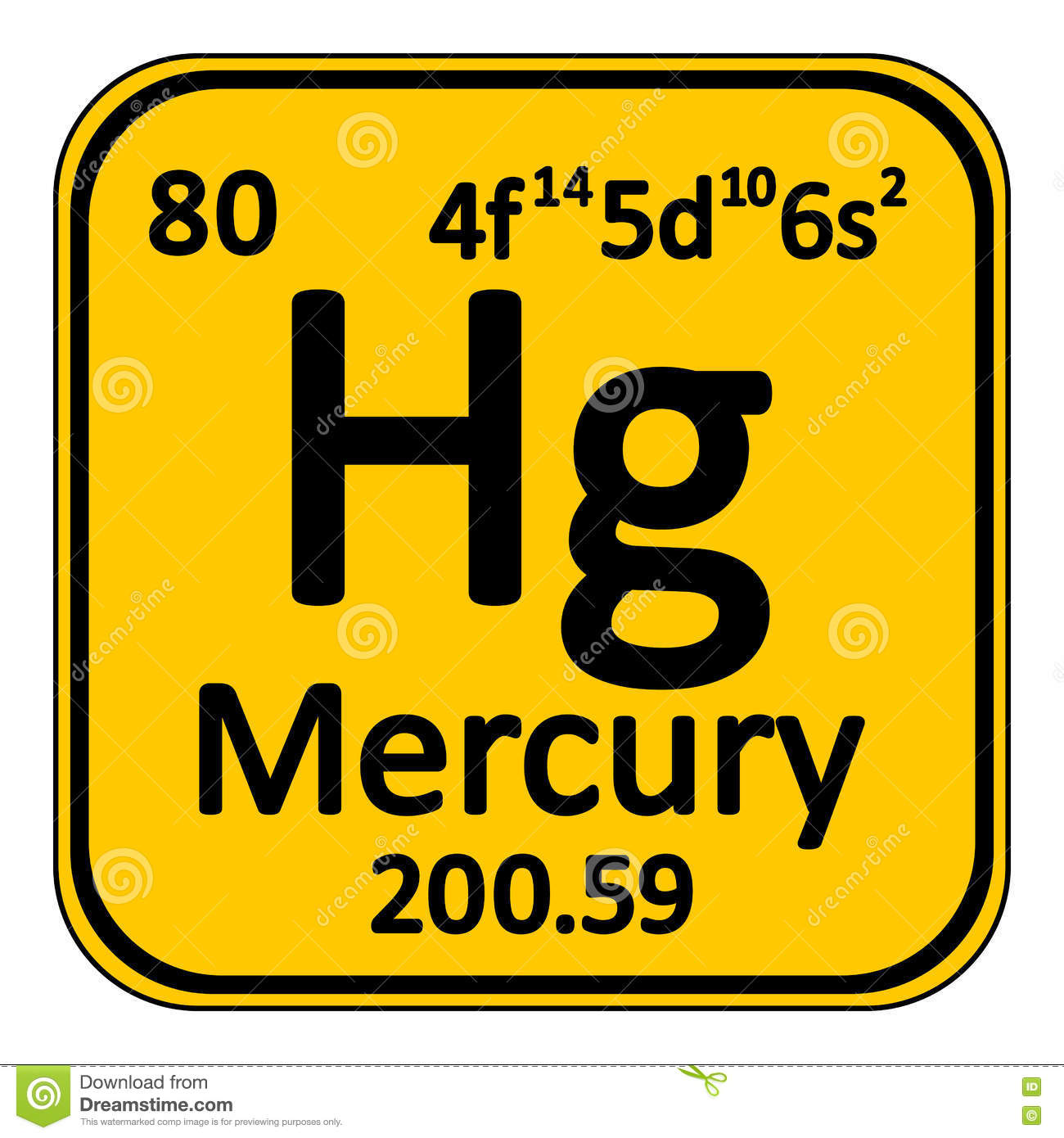 Chemical element mercury from the periodic table stock periodic table element mercury icon stock images buycottarizona Gallery
