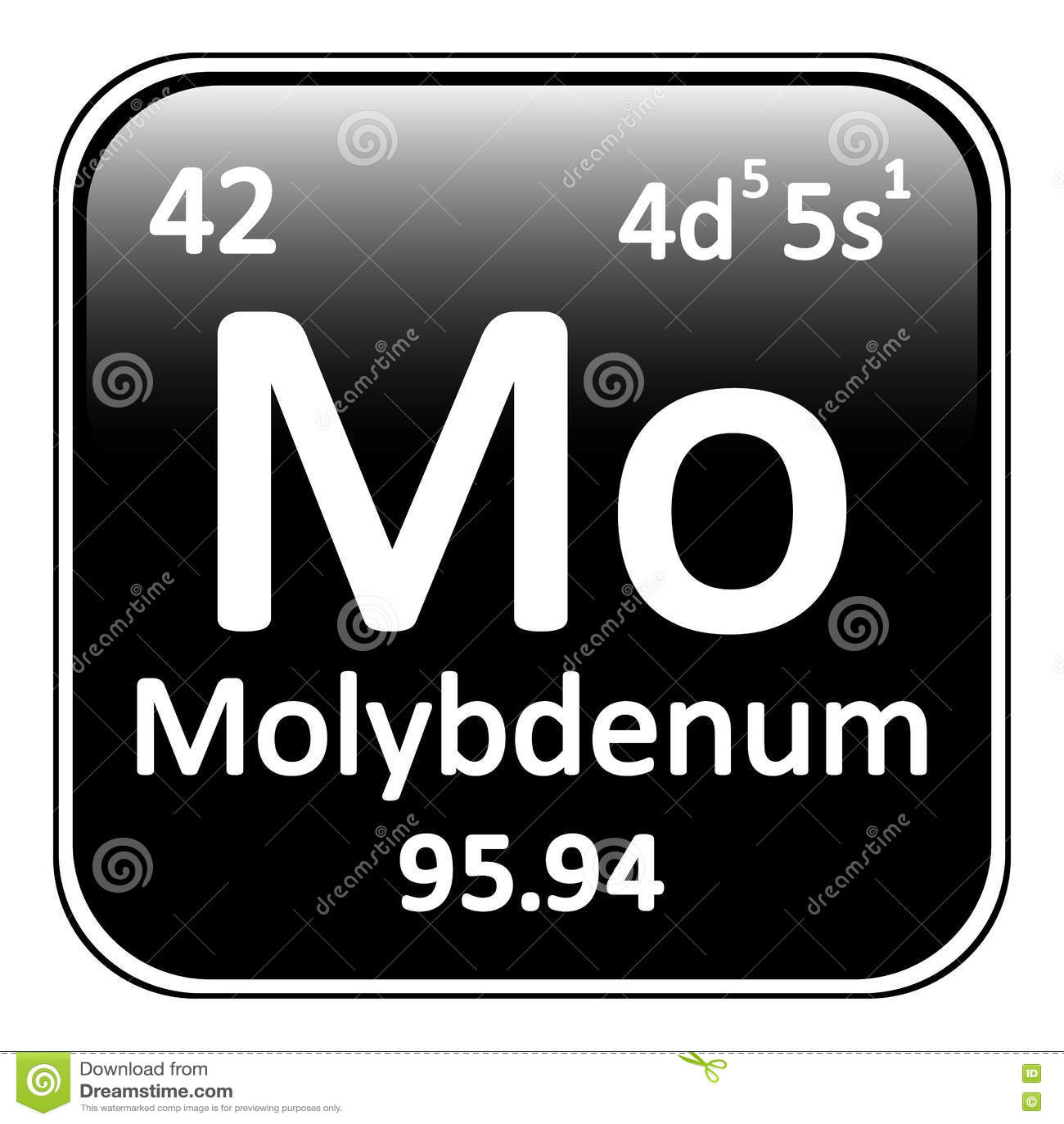 Periodic table element molybdenum icon stock illustration image royalty free illustration download periodic table element molybdenum gamestrikefo Images
