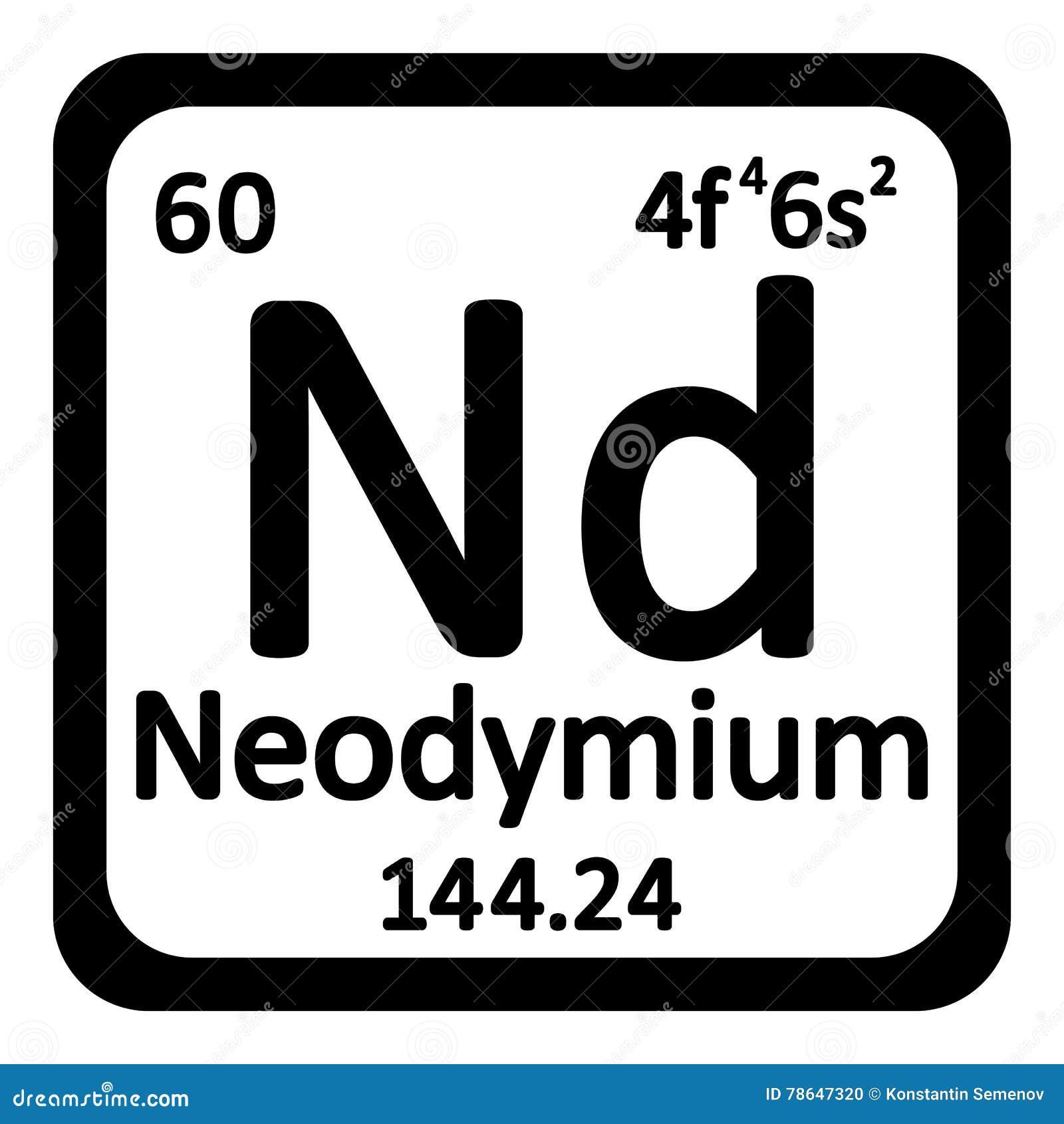 Periodic table element neodymium icon stock illustration image periodic table element neodymium icon stock photo gamestrikefo Choice Image