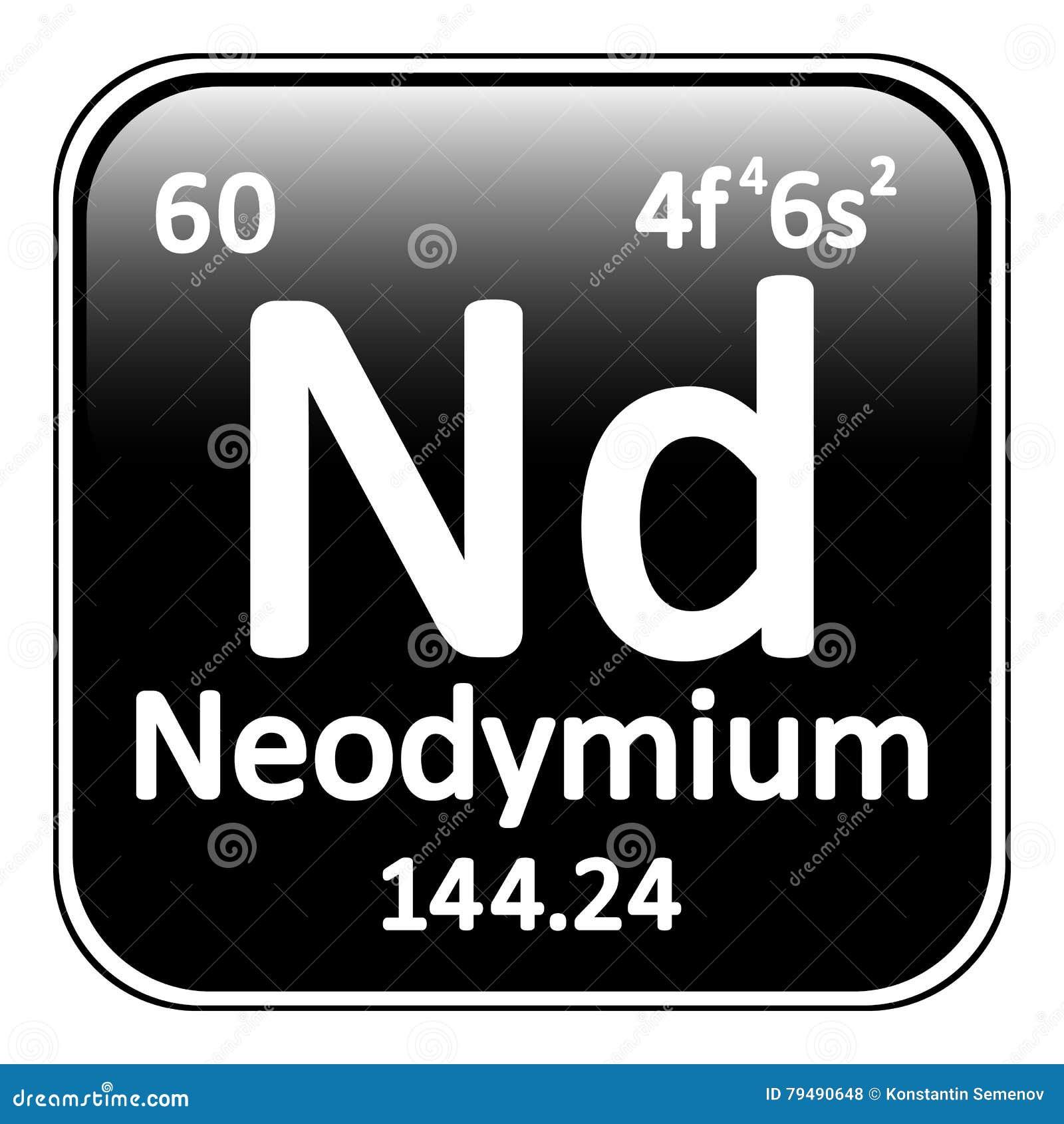 Periodic table element neodymium icon stock illustration image royalty free illustration download periodic table element neodymium gamestrikefo Choice Image