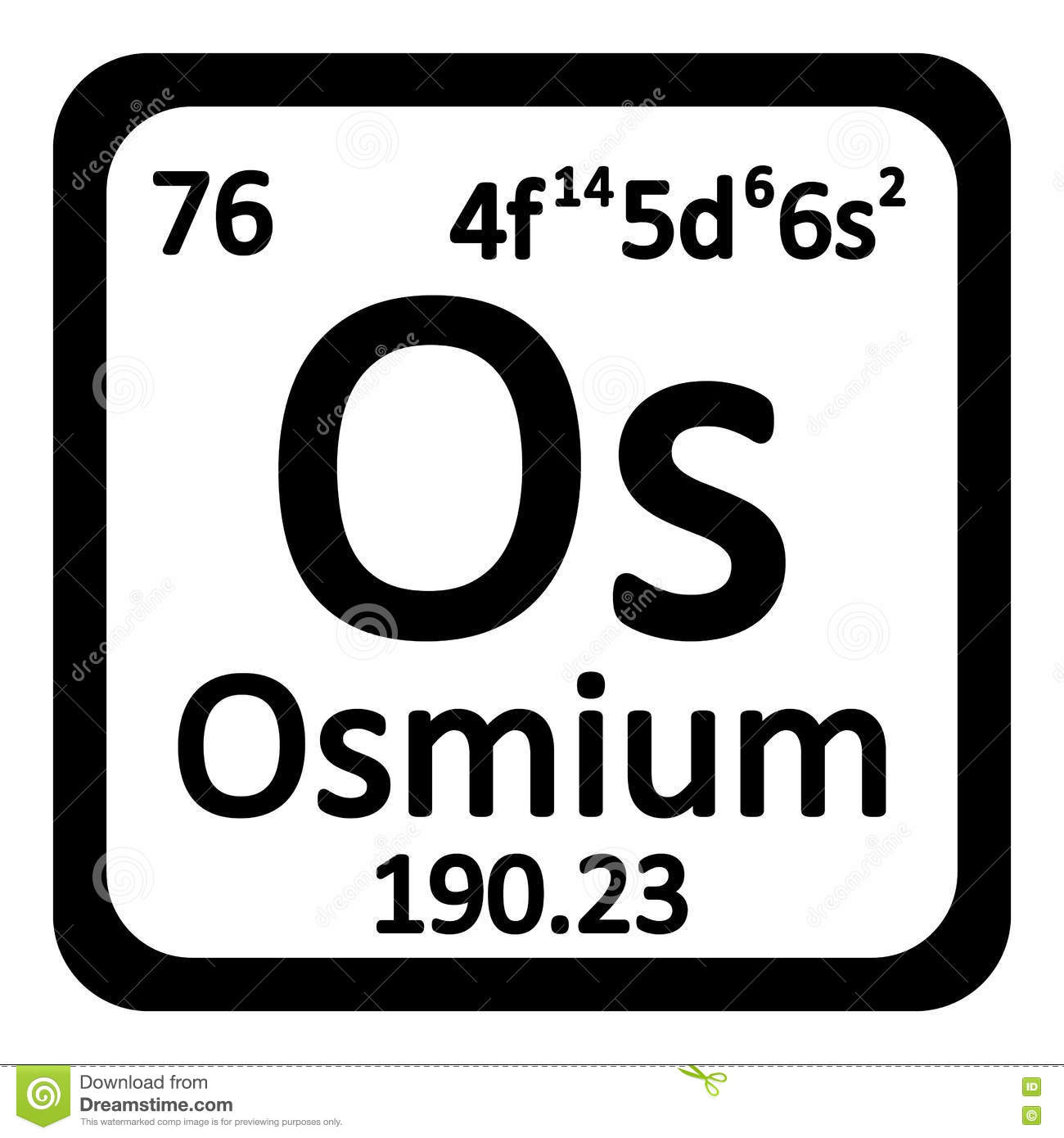 Periodic table element osmium icon stock illustration periodic table element osmium icon biocorpaavc Image collections
