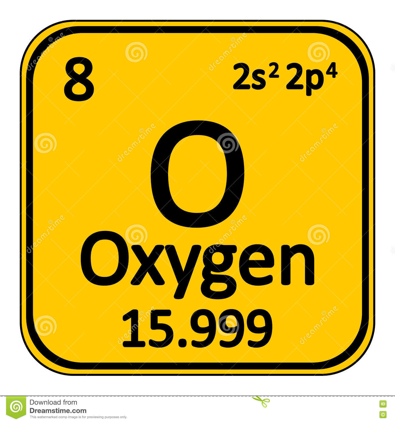 Hydrogen periodic table element icon on white background stock periodic table element oxygen icon stock photos gamestrikefo Choice Image