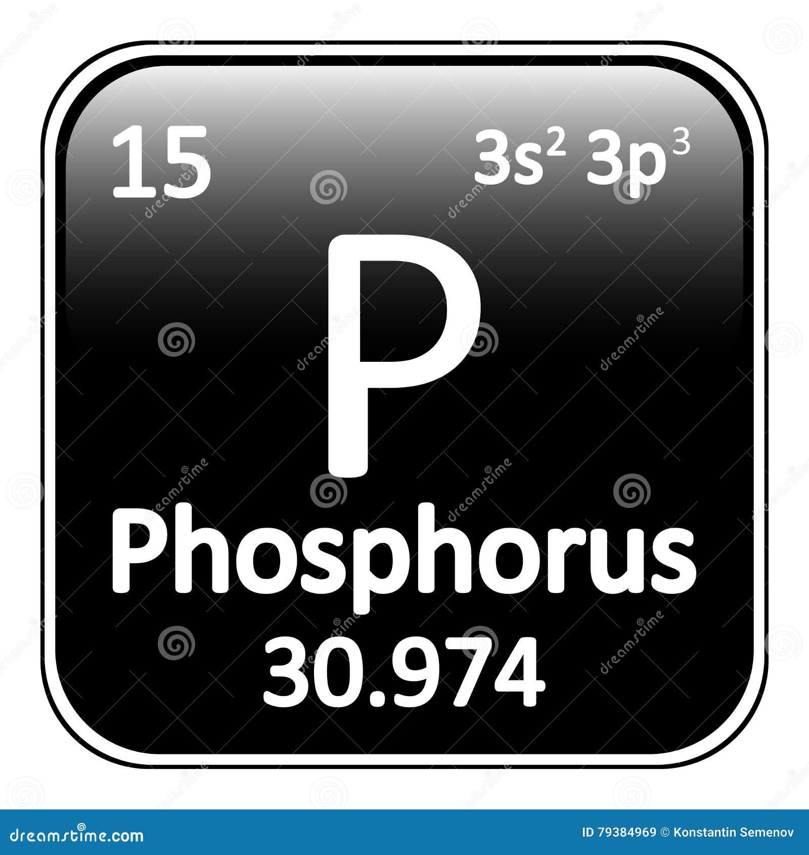 Periodic Table Element Phosphorus Icon Stock Illustration
