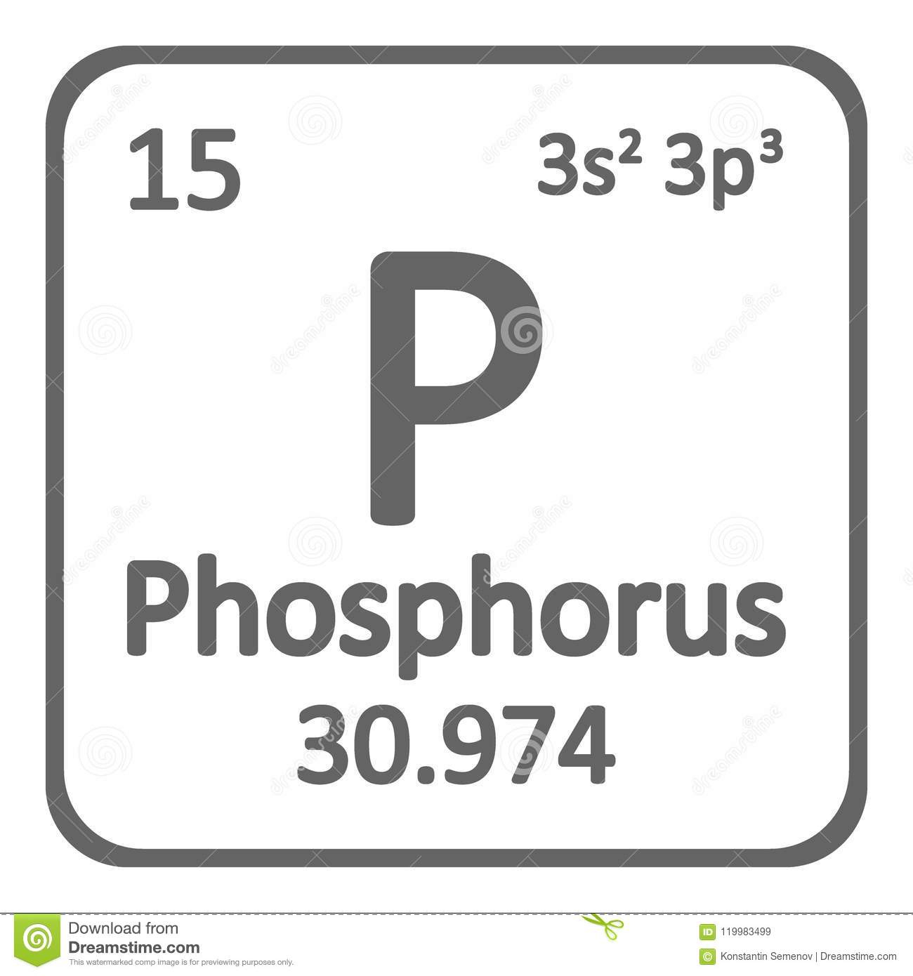 Periodic table element phosphorus icon stock illustration periodic table element phosphorus icon urtaz Images