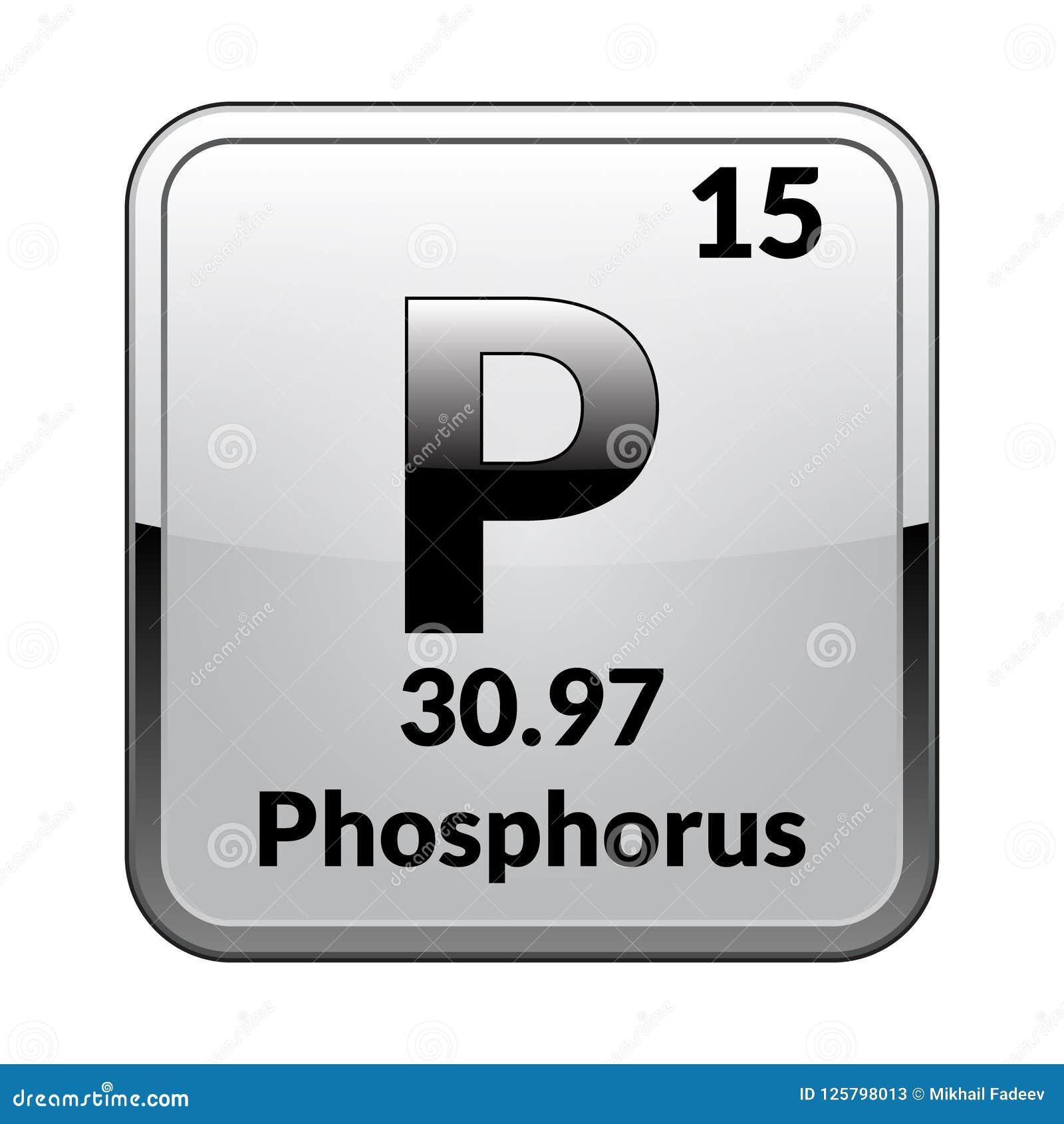 The Periodic Table Element Phosphorusctor Stock Vector