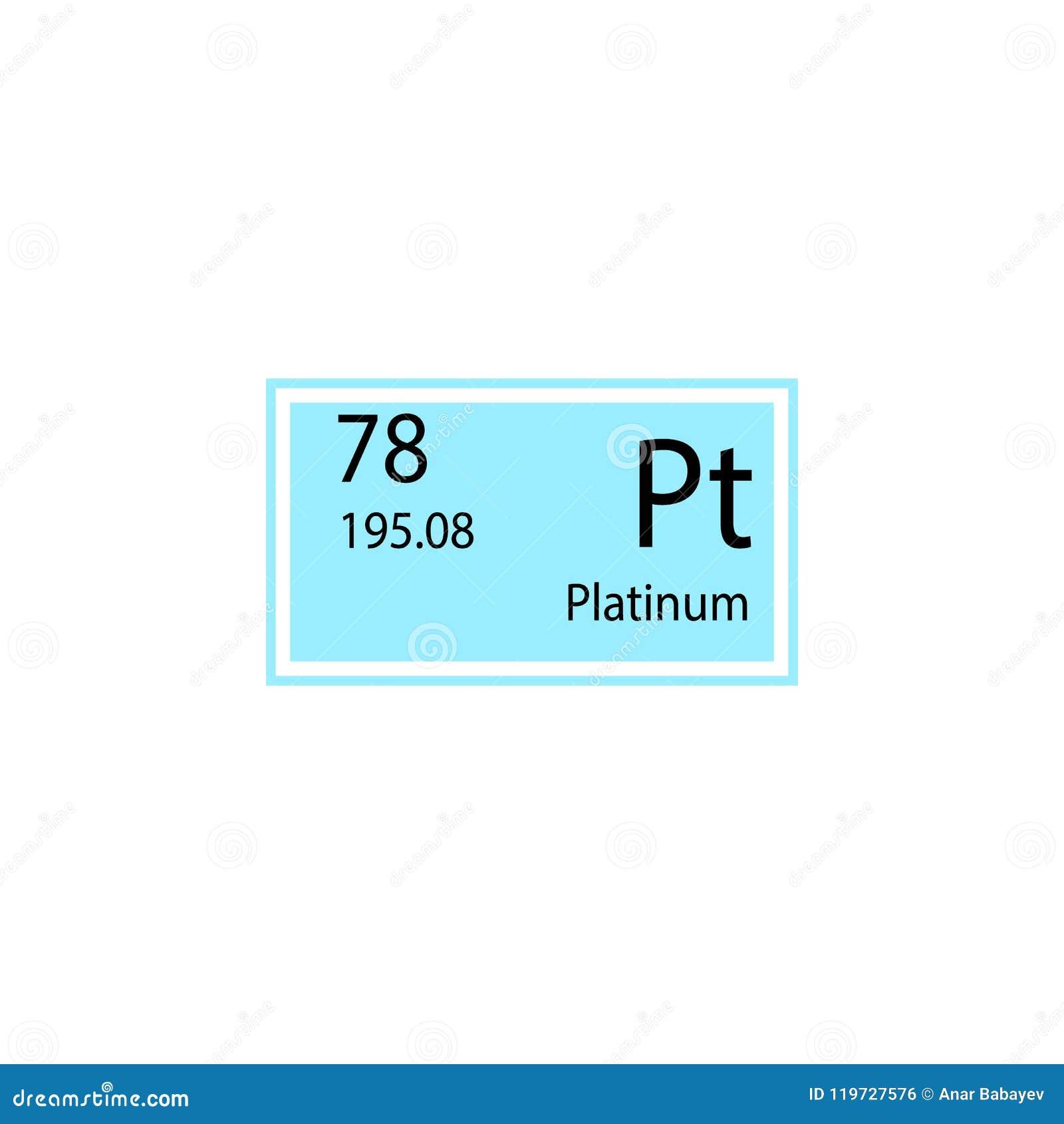 Periodic Table Element Platinum Icon Element Of Chemical