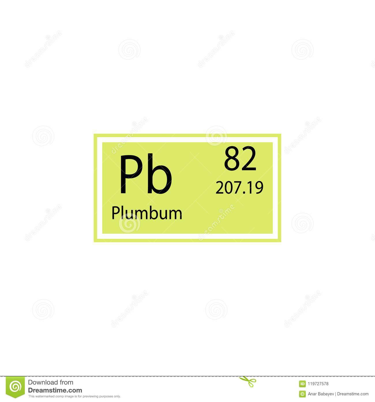 Periodic table element plumbum icon. Element of chemical sign icon. Premium quality graphic design icon. Signs and symbols collect