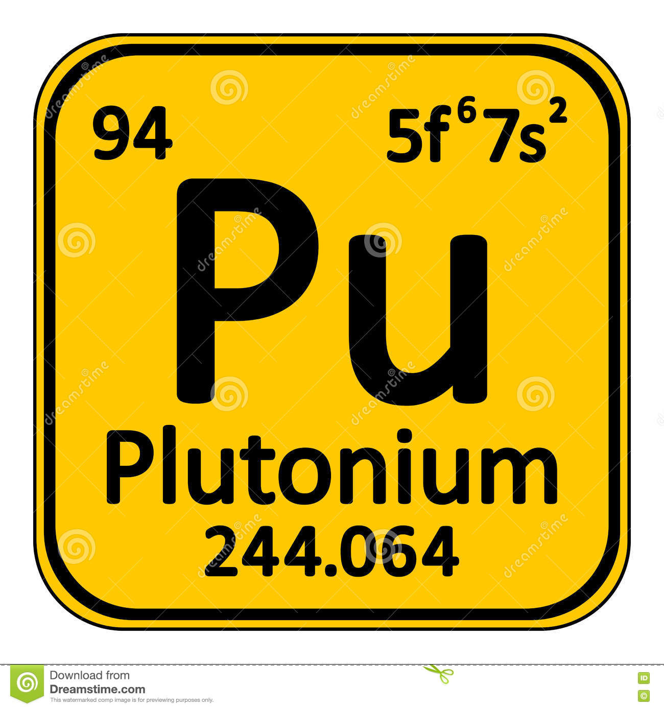 Periodic table element plutonium icon stock illustration image royalty free illustration download periodic table element plutonium gamestrikefo Image collections